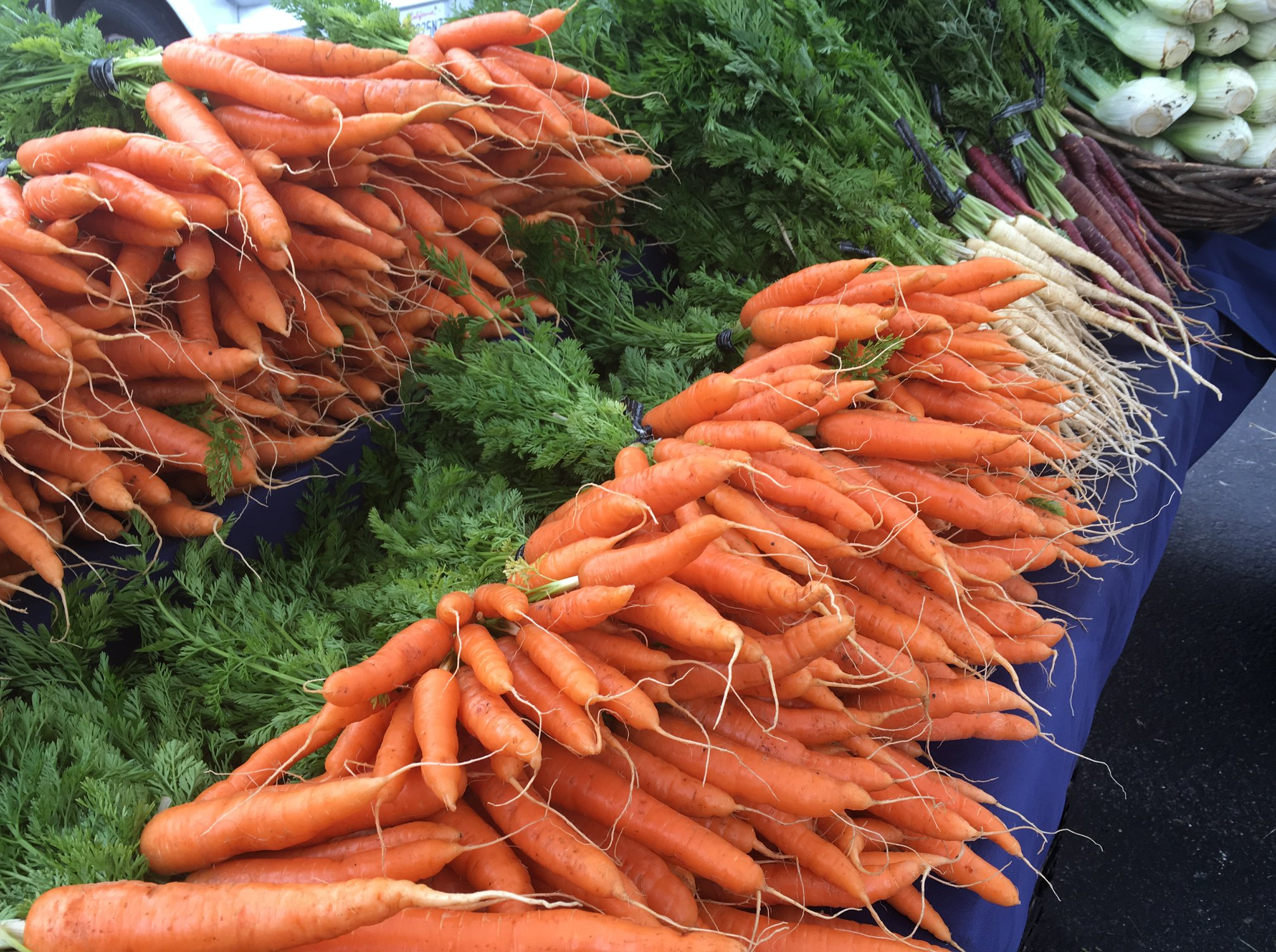 You can always find Nantes Carrots in our booth! The sweetest carrots around!