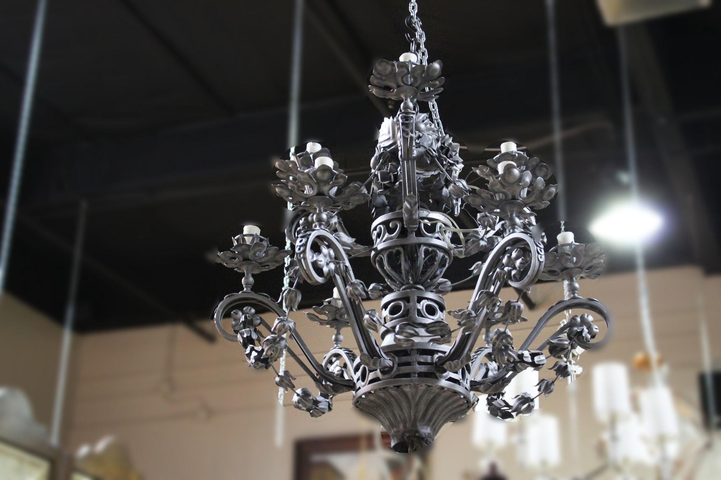 Silver Floral Chandelier