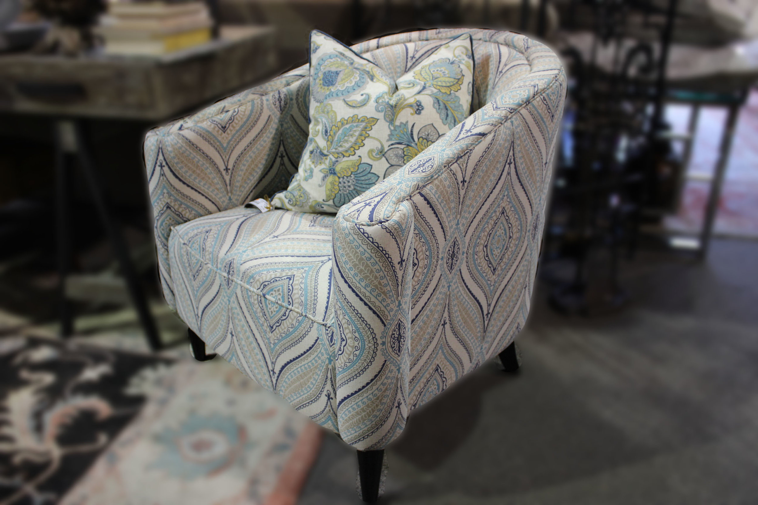 NEW Paisley Blue Chair