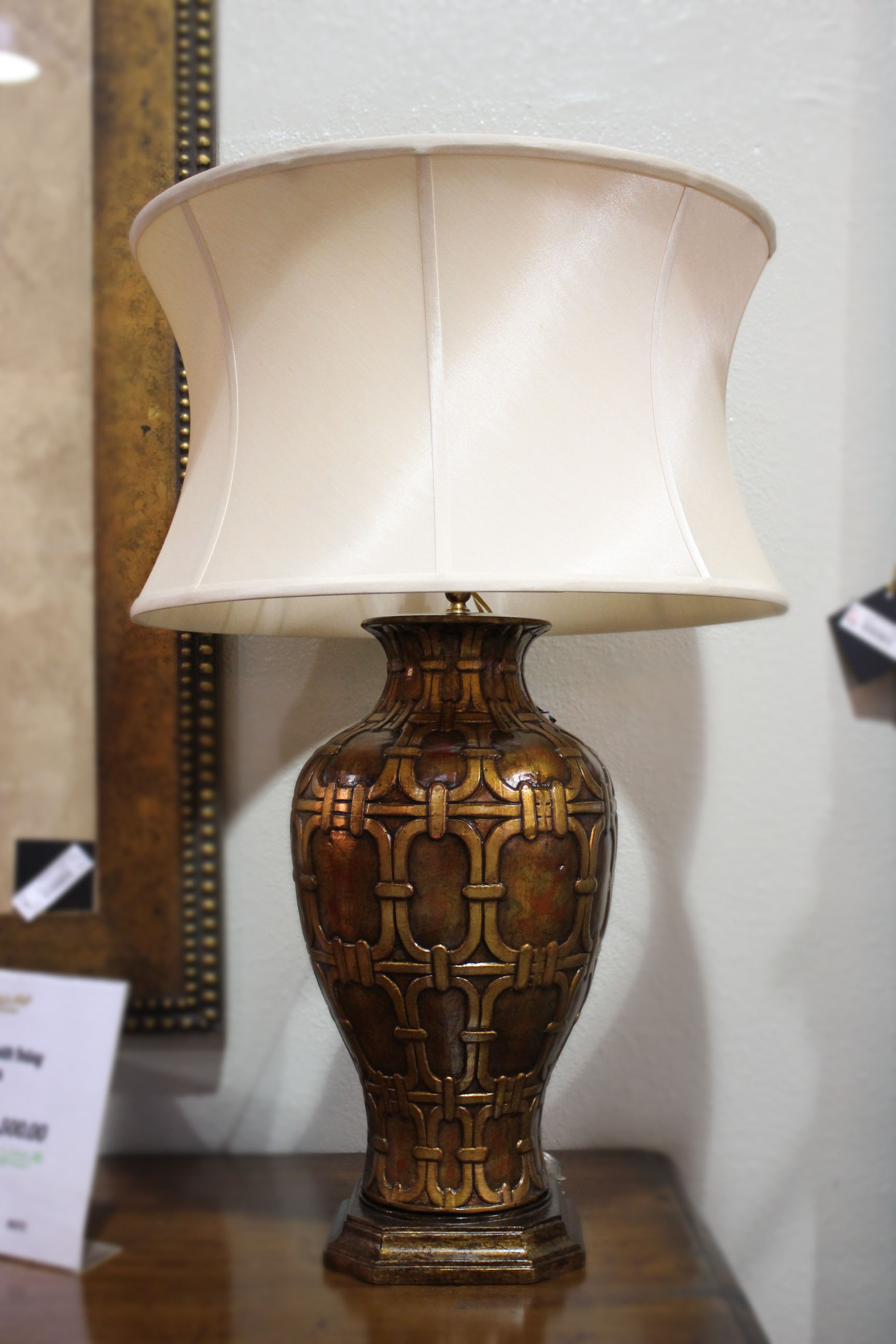 Gold & Rust Link Lamp