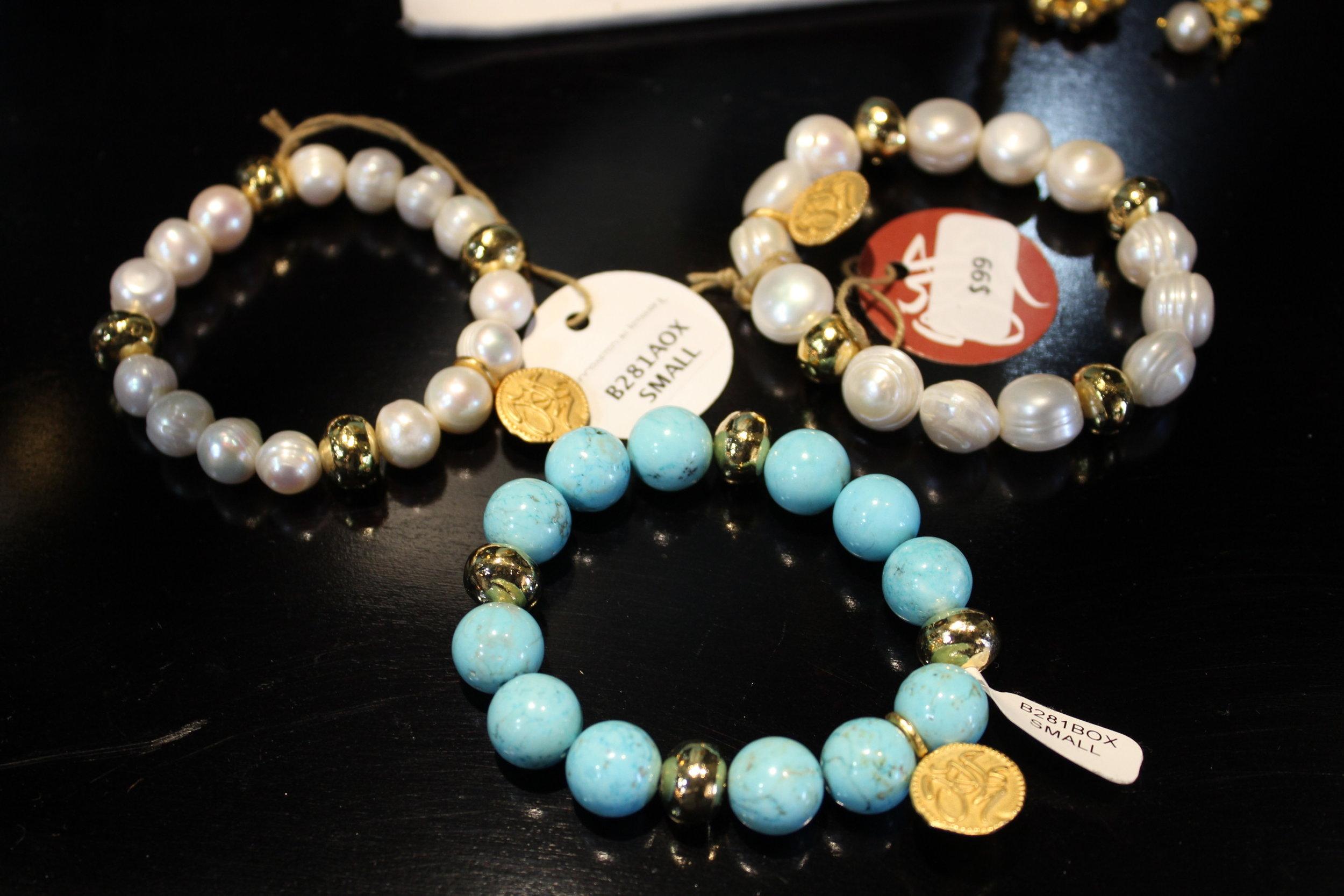 Wanderlust Turquoise Bracelet & Pearl Bracelets