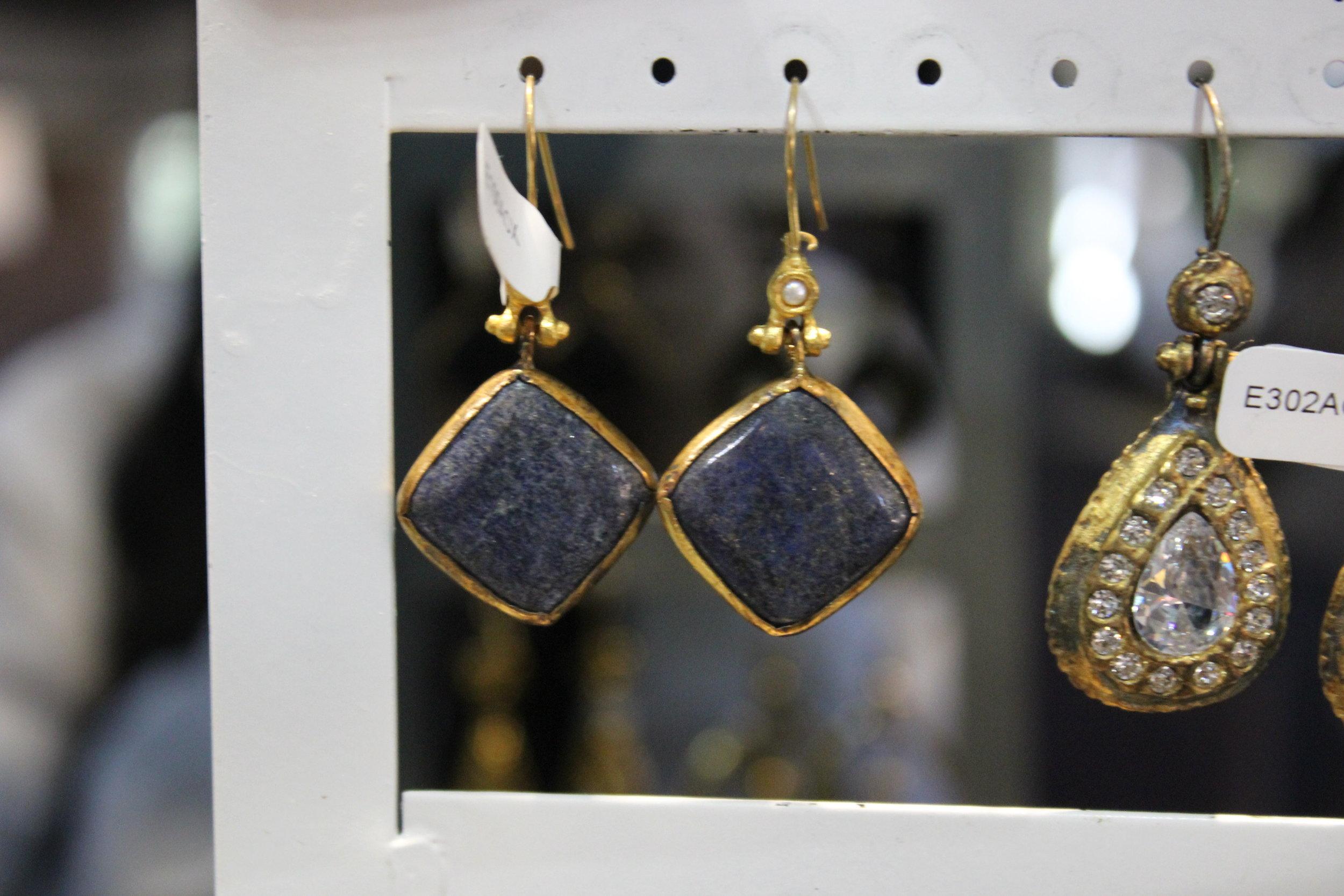 Stone & Gold Earrings