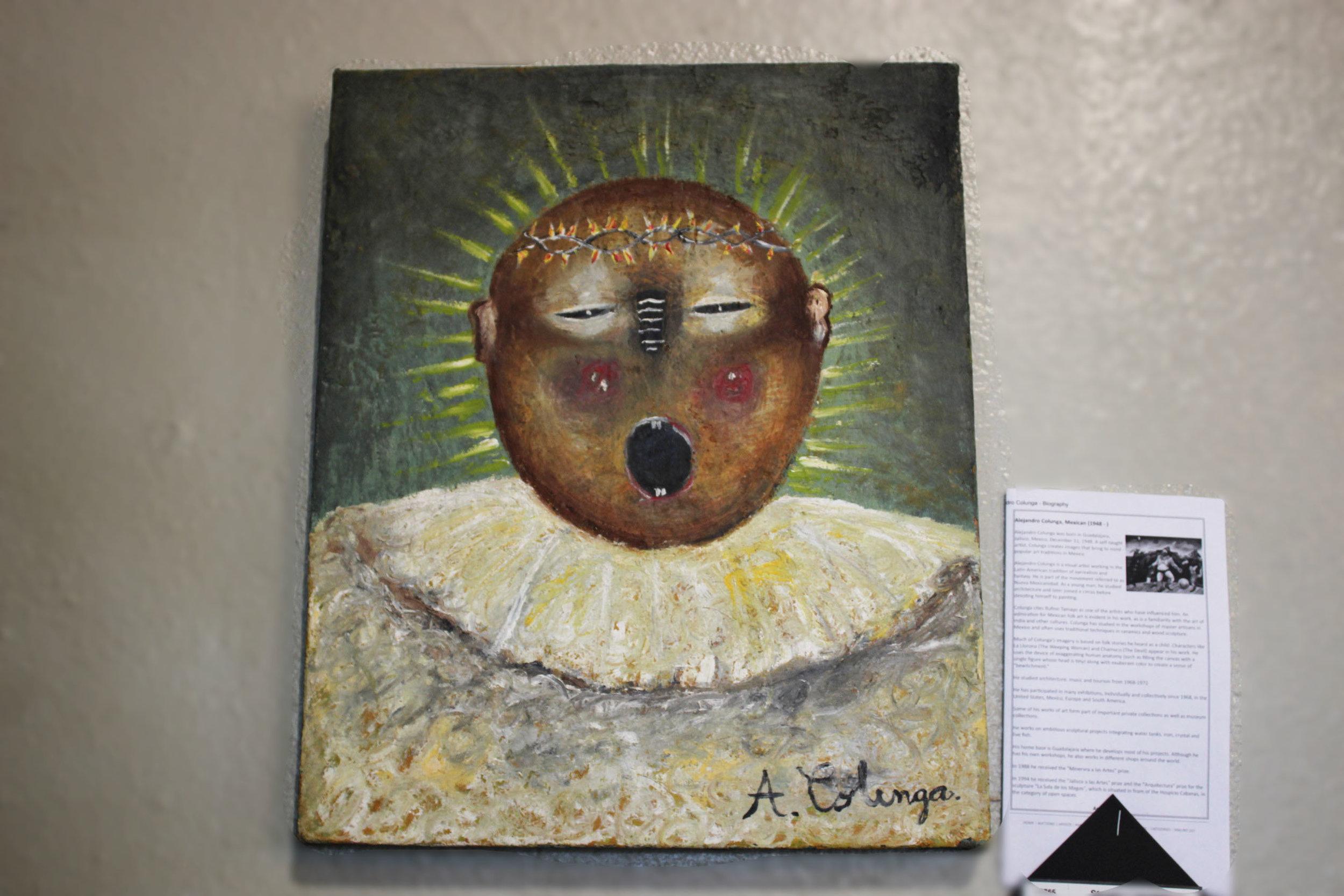 Jesus on Canvas by Alejandro Colunga
