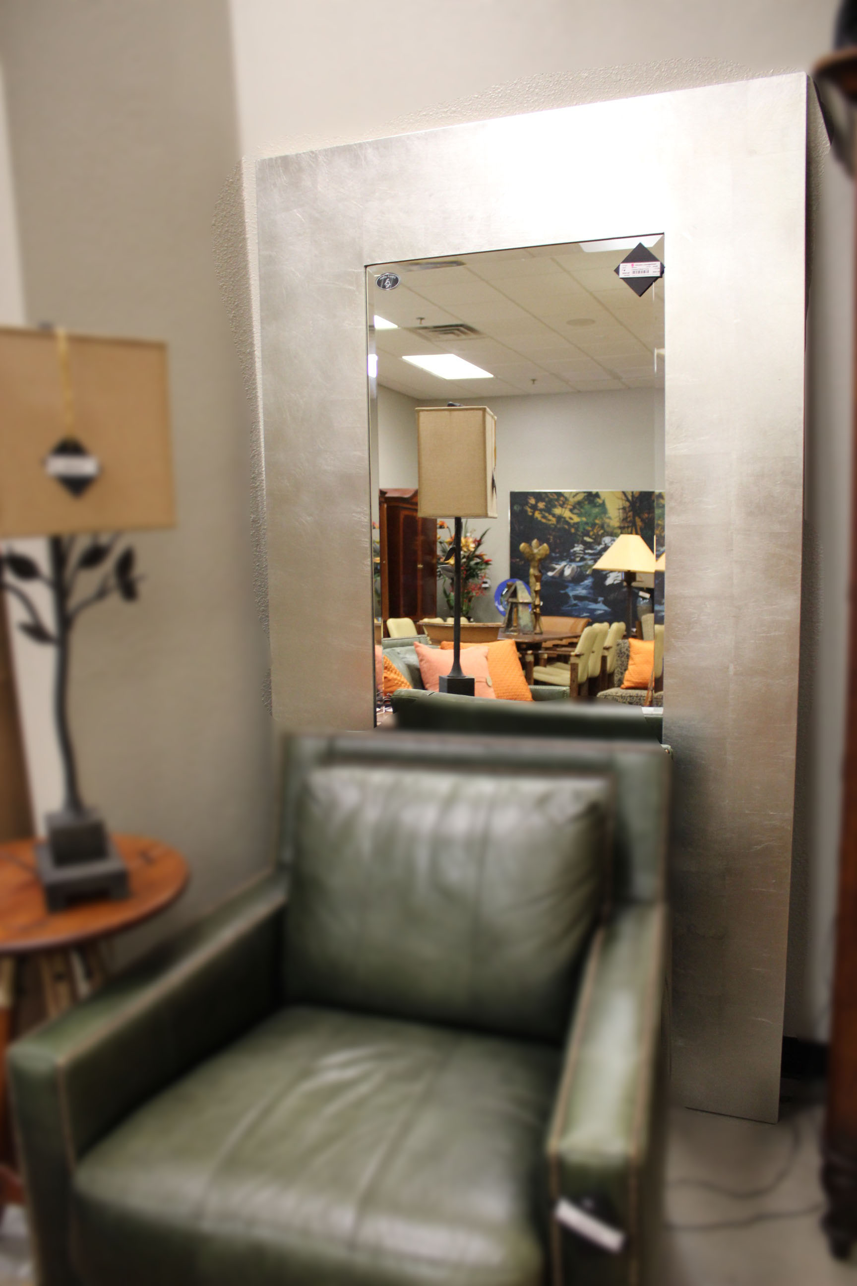 Galaxy Home Pair of Contemporary Silver Frame Mirrors