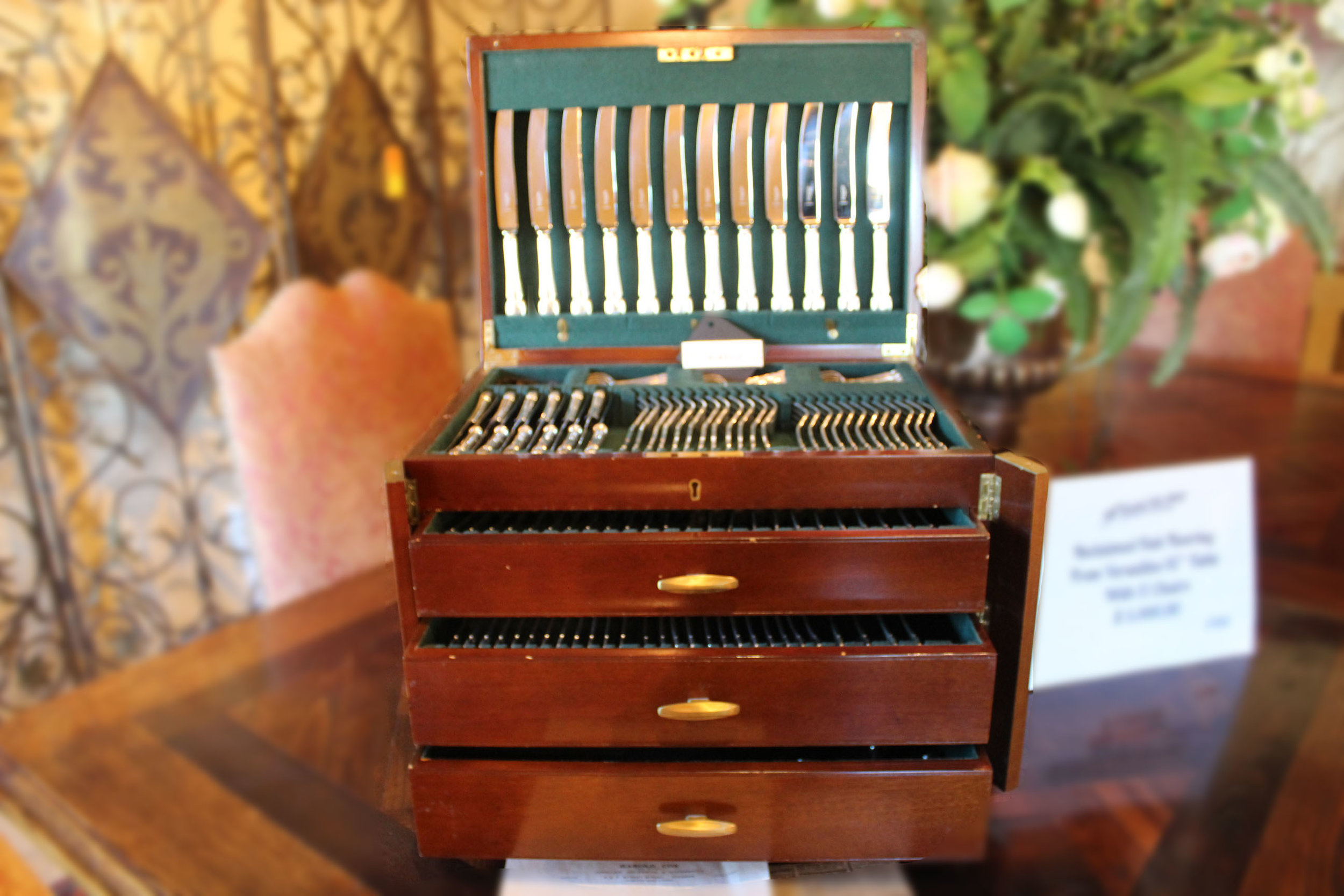 Large Set of Chippendale Sterling Silver by Cooper Brothers