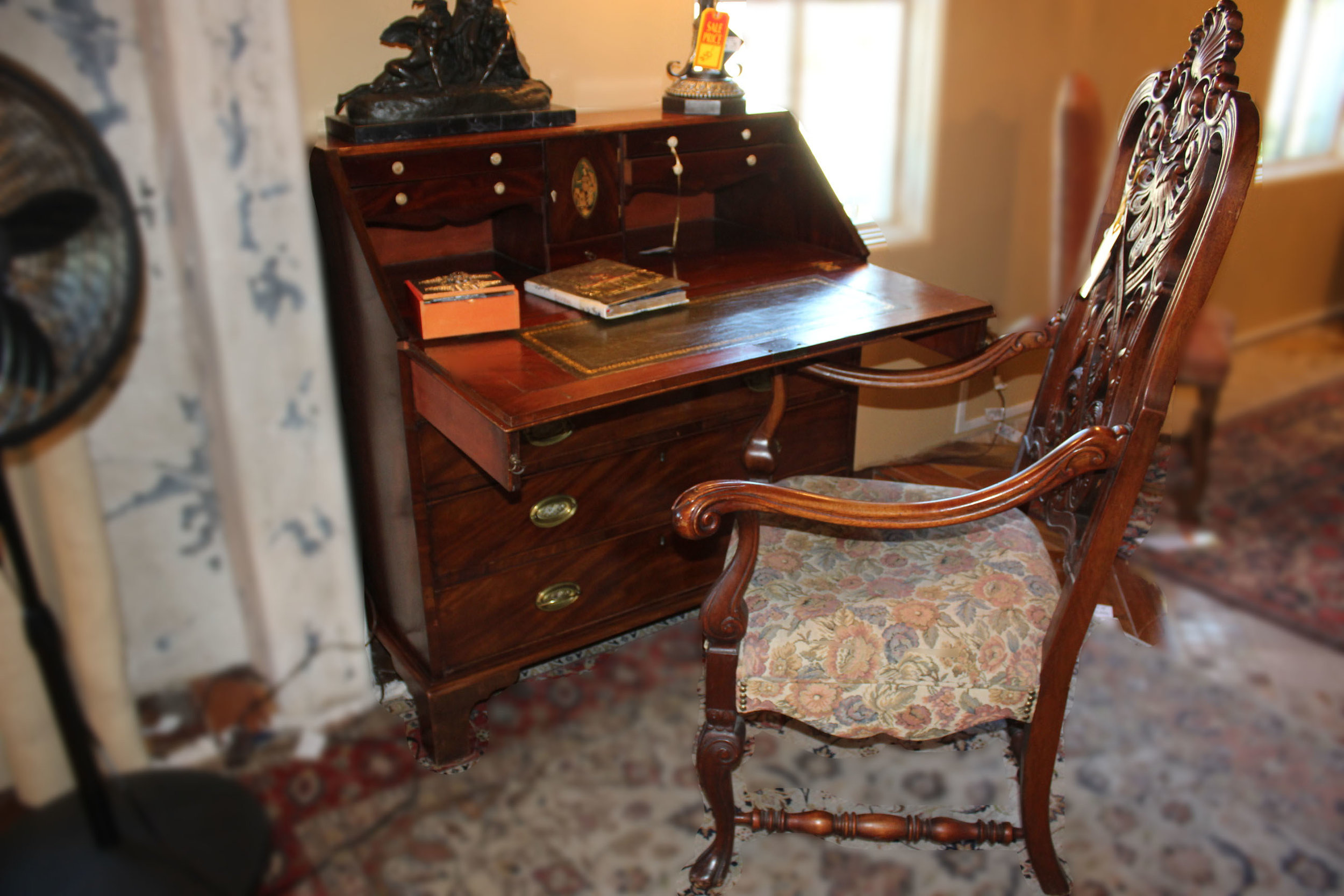 Vintage Drop Front Desk