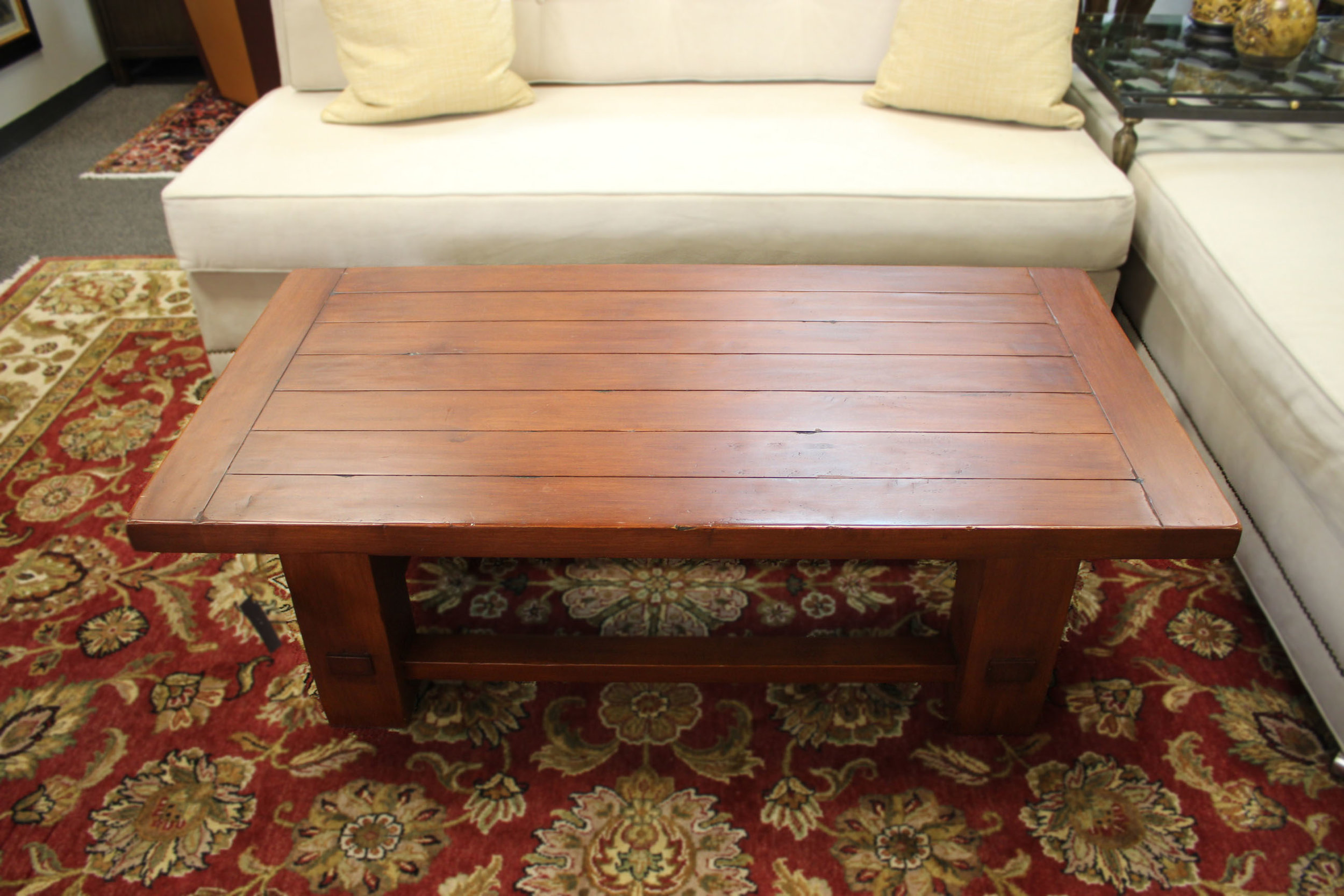 Rectangle Plank Top Cocktail Table