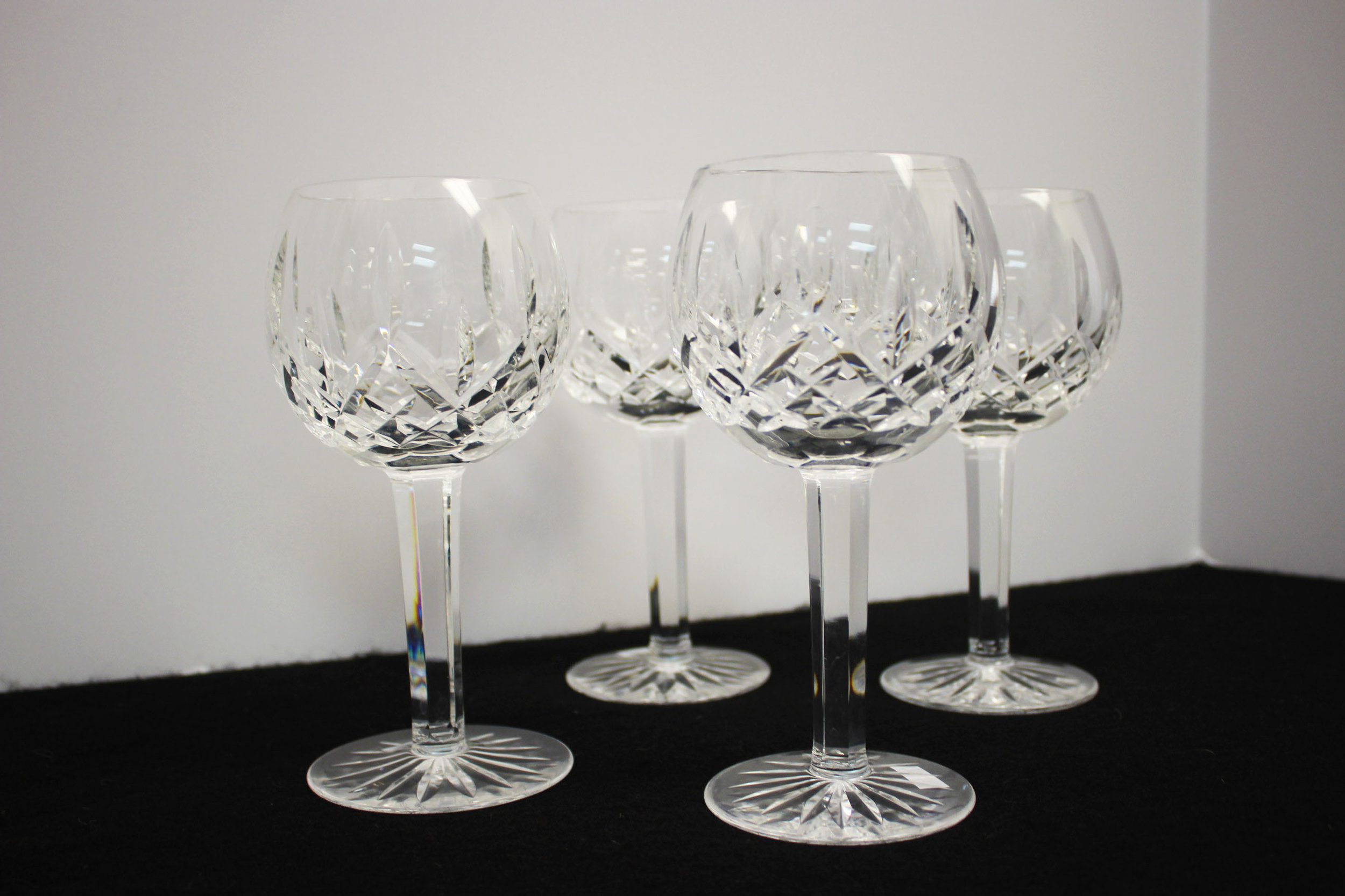Waterford Crystal Set of 4 Balloon Wine Glasses