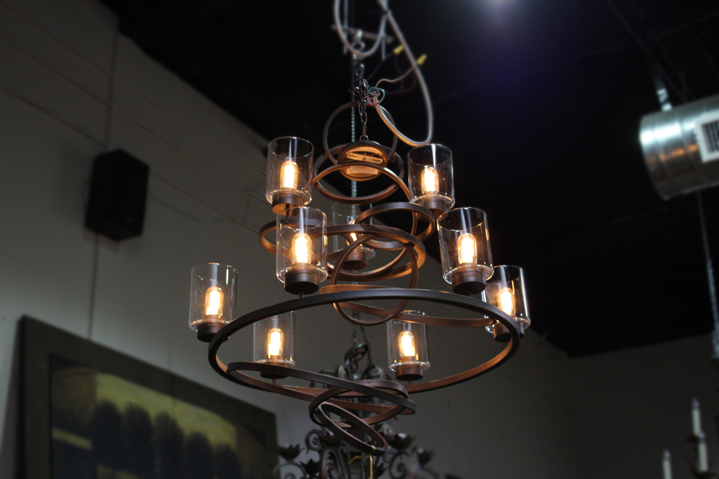 9 Light Multi Ring Chandelier