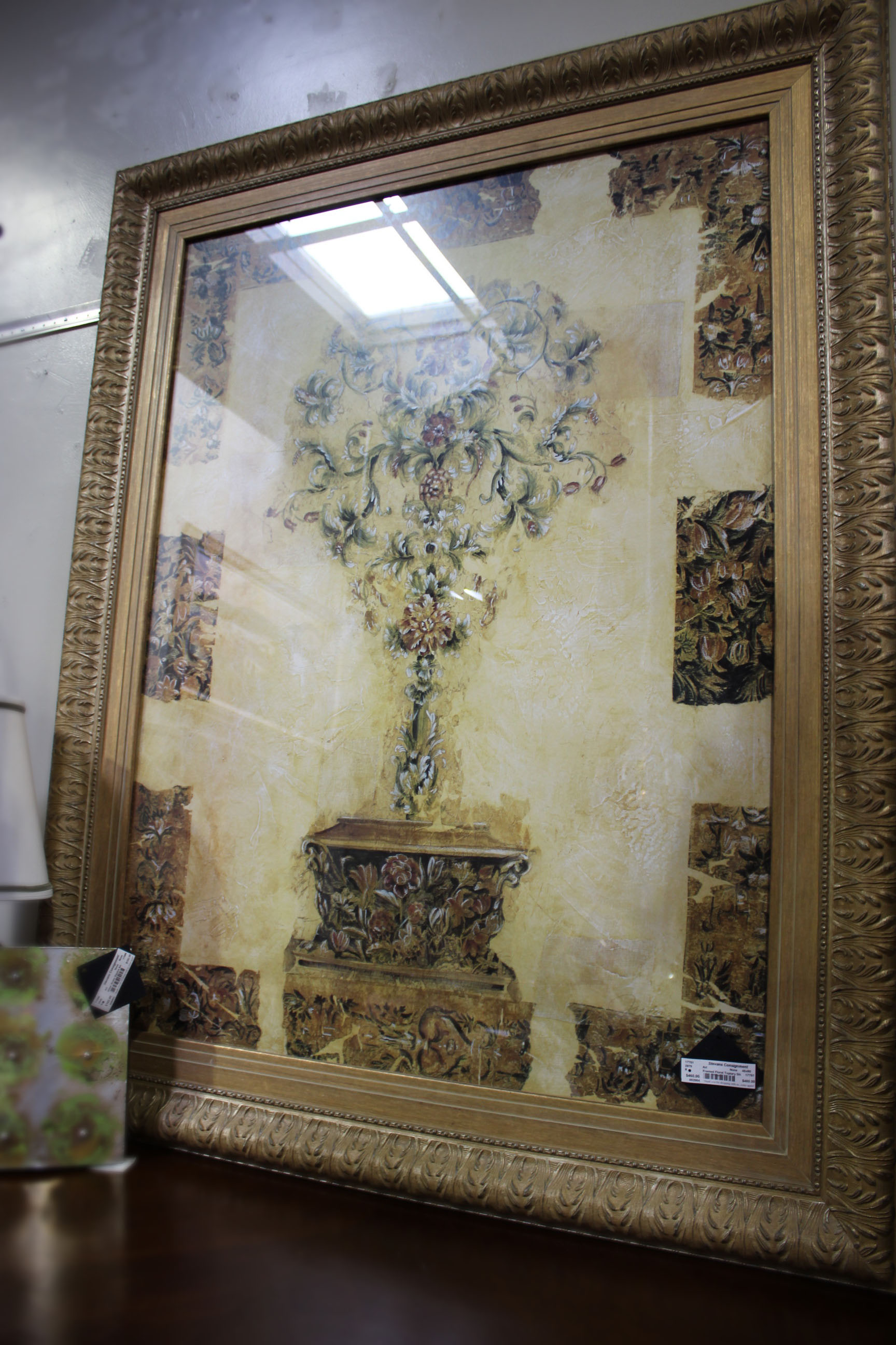 Framed Floral Topiary Art