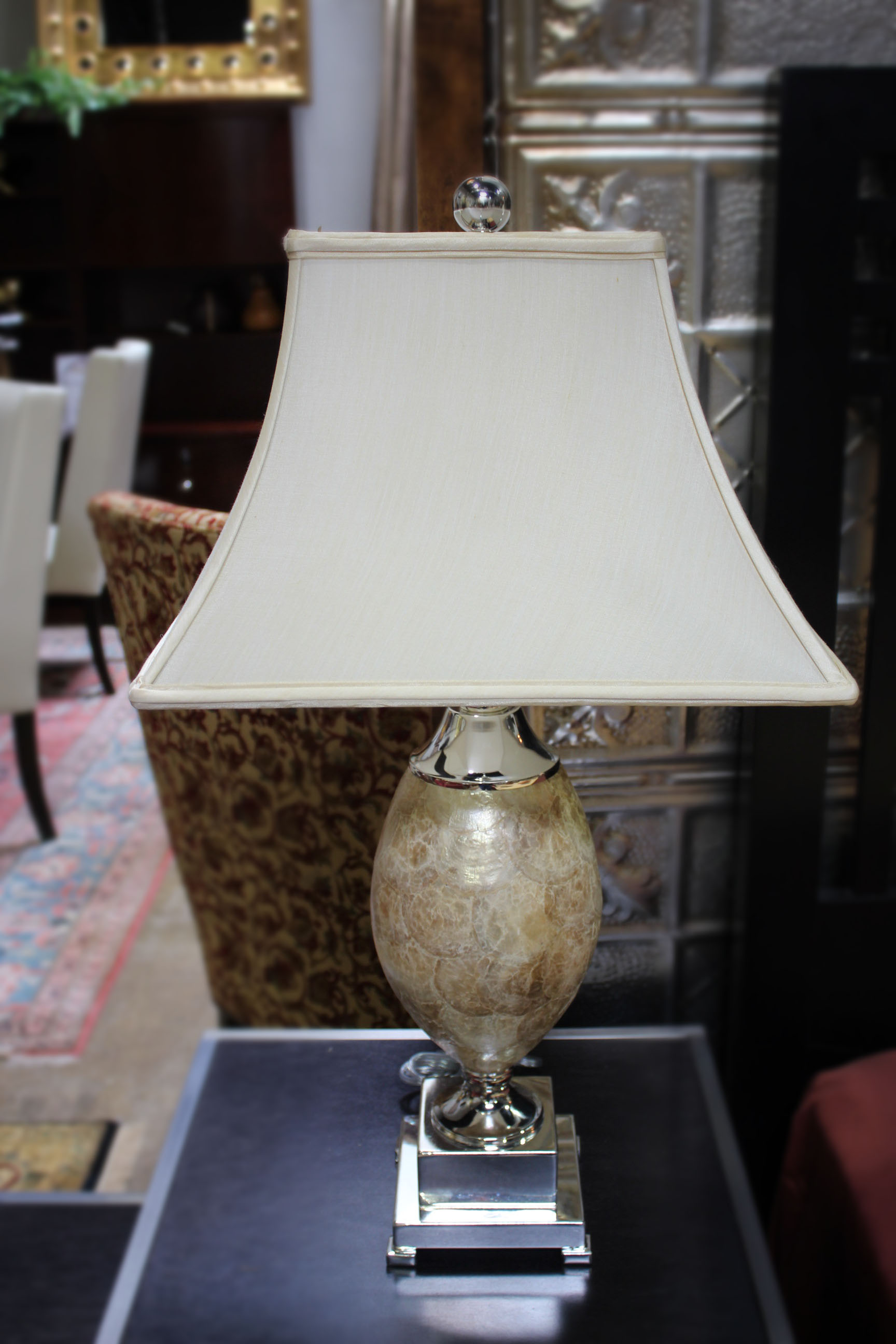 Pair of John Richards Shell Lamps