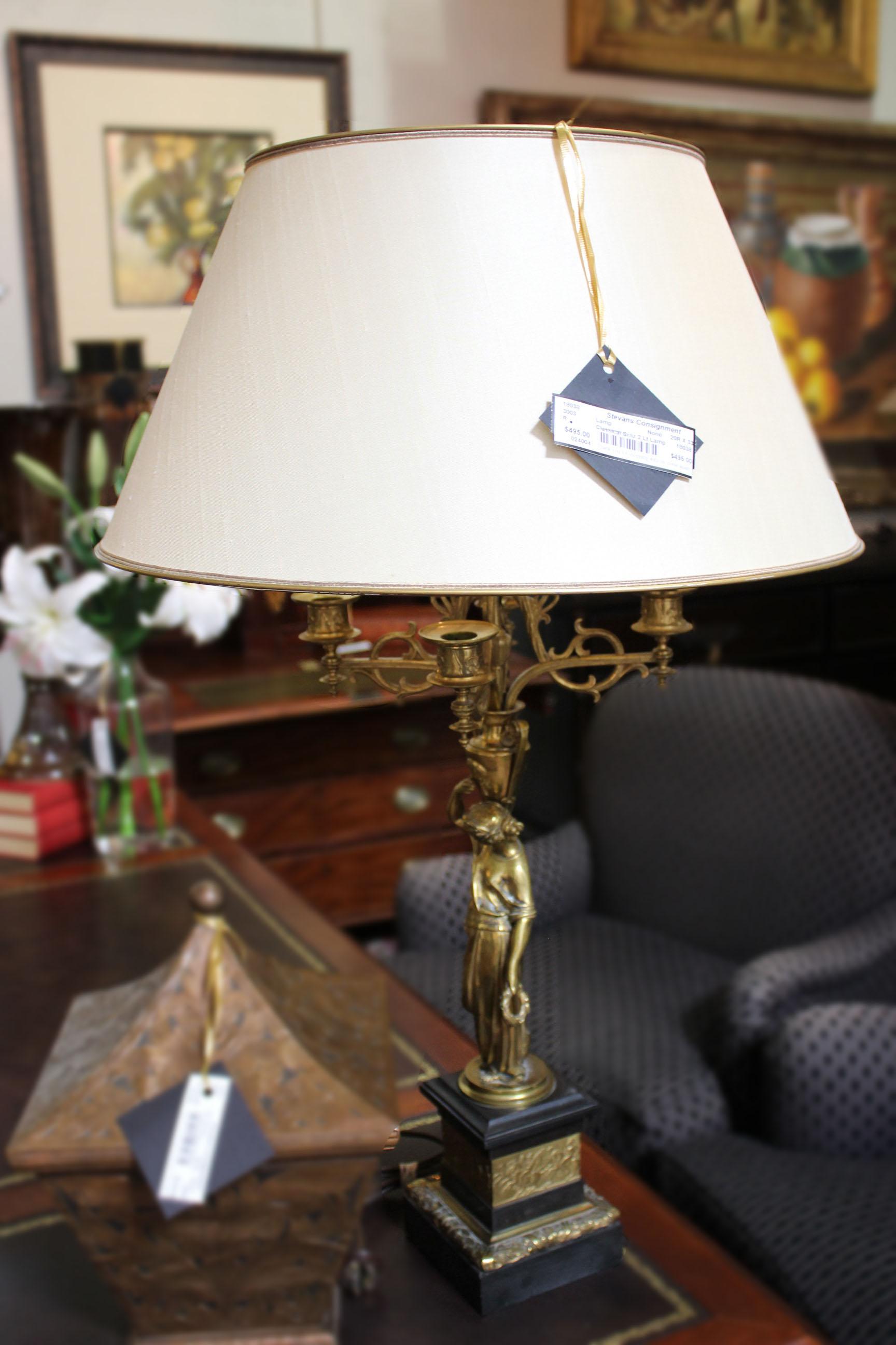 Classical Bronze 2 Light Lamp