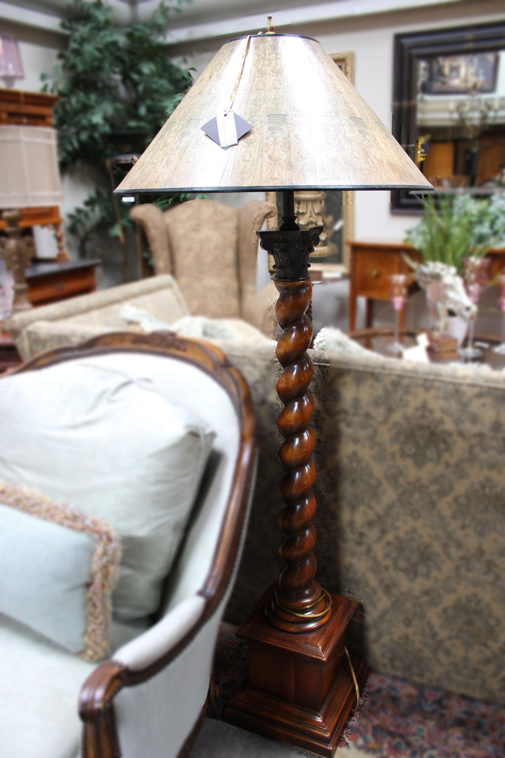 Turned Alder Floor Lamp