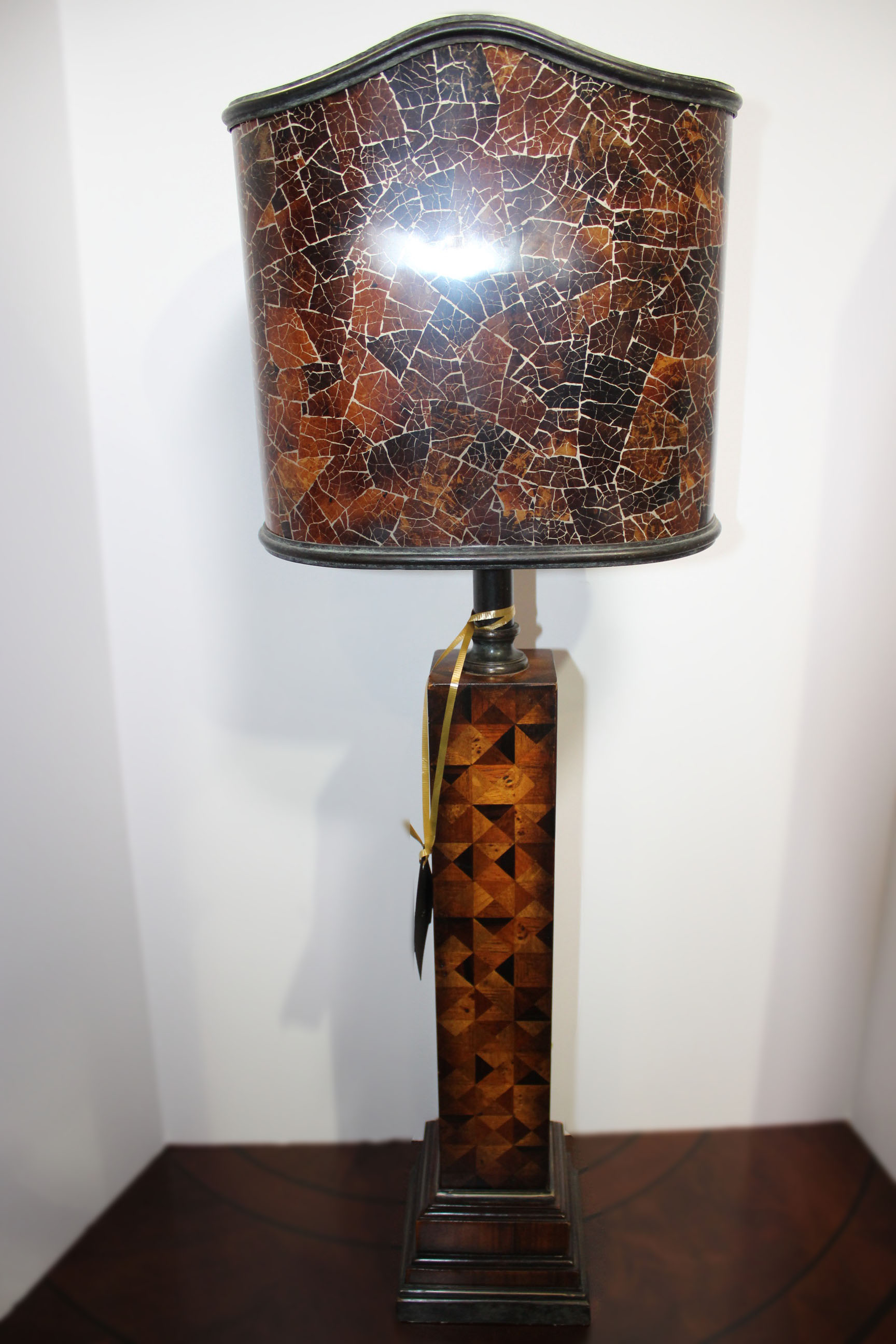 Maitland Smith Diamond Inlay Lamp