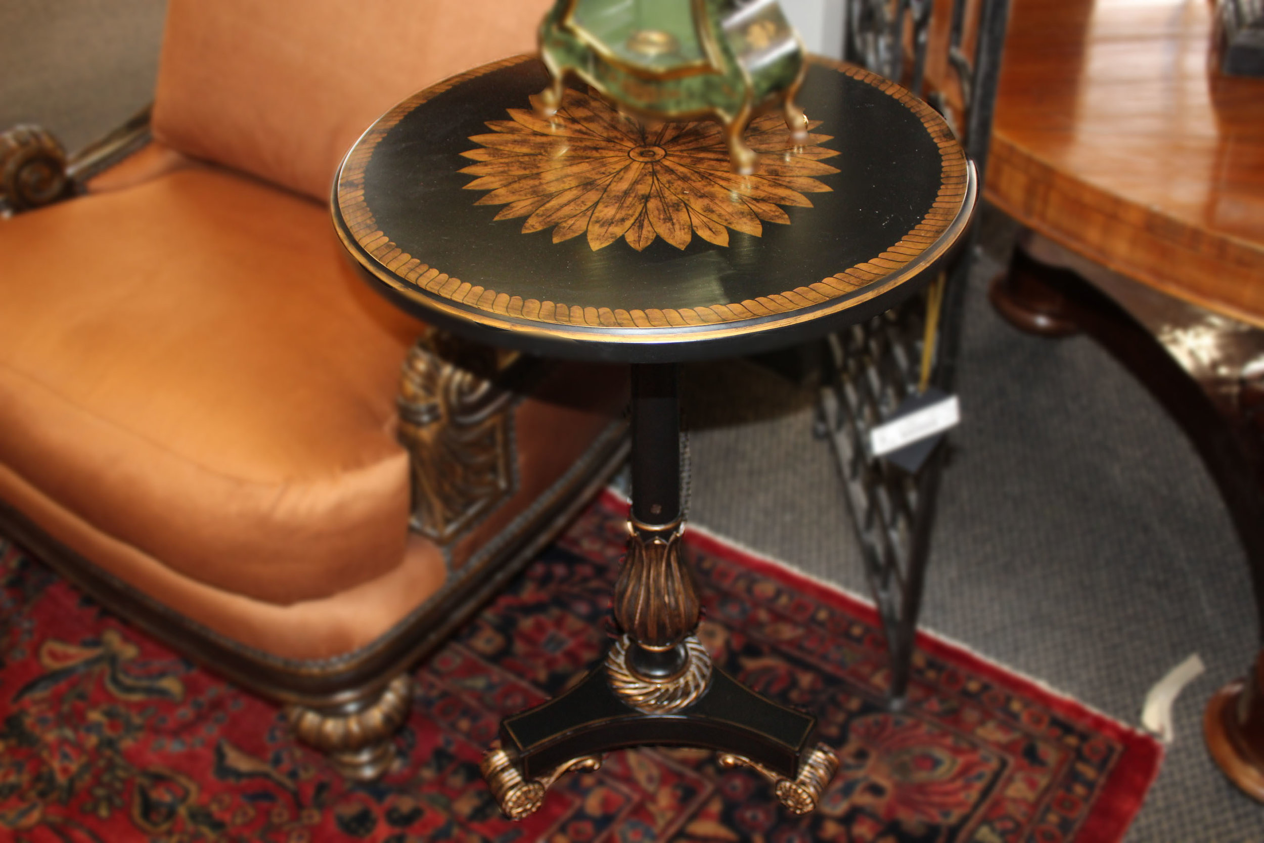 Maitland Smith Small Black End Table