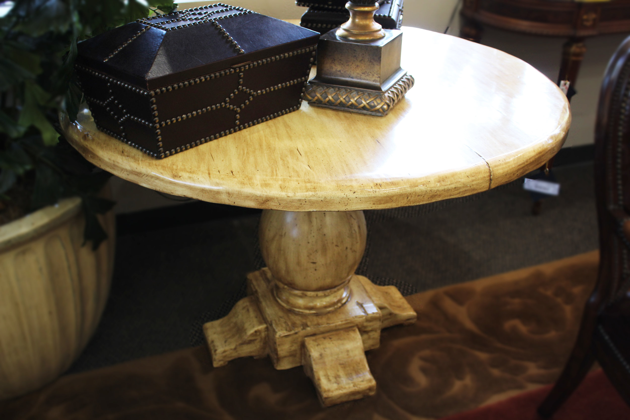 Ellis Wood Cream Aged Entry Table