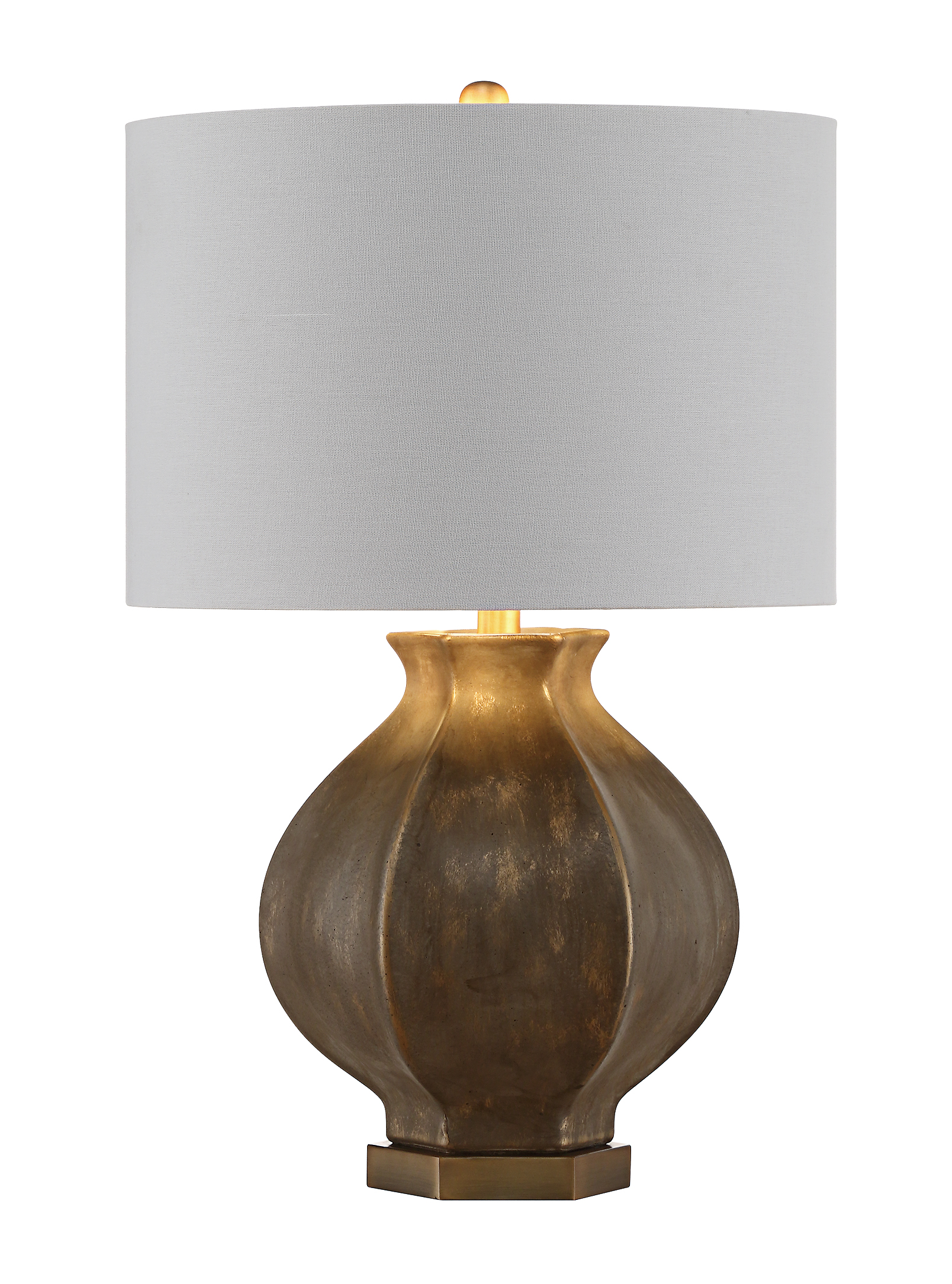 NEW Pair of Burnished Urn Lamps