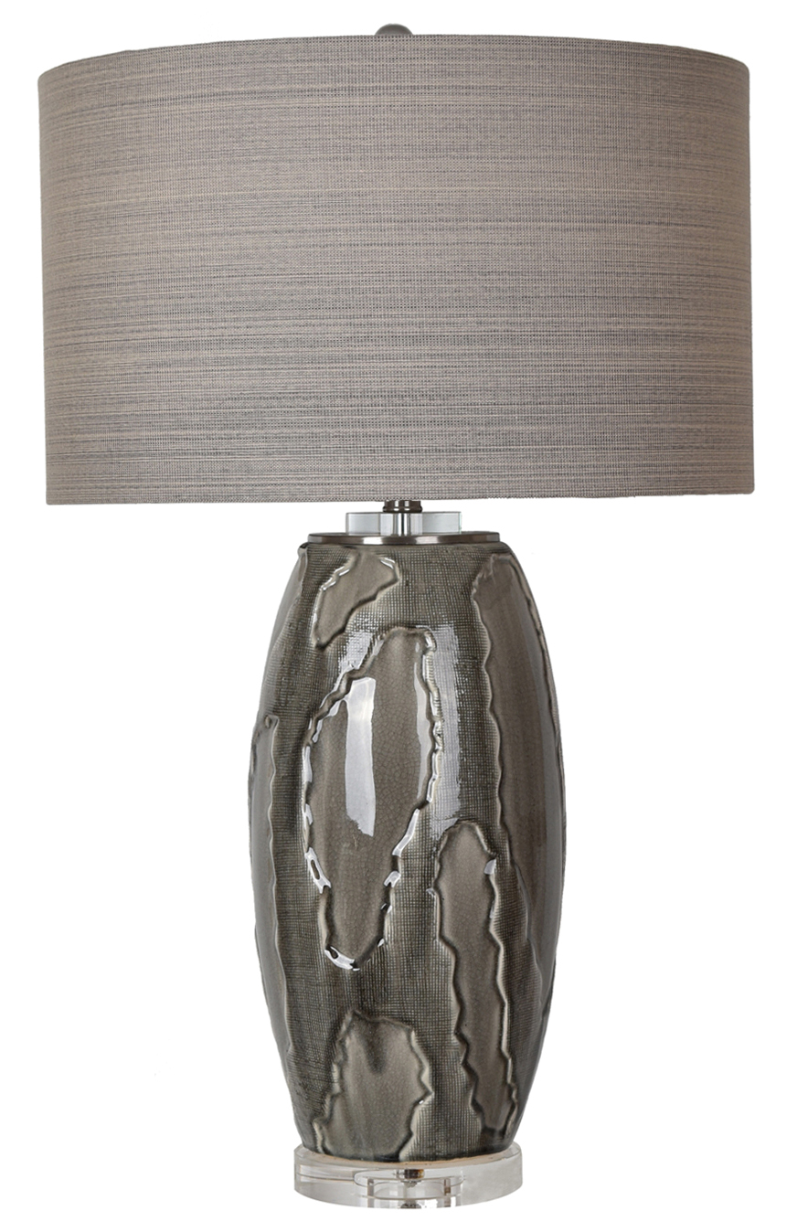 NEW Pair of Grey Multi Texture Lamps