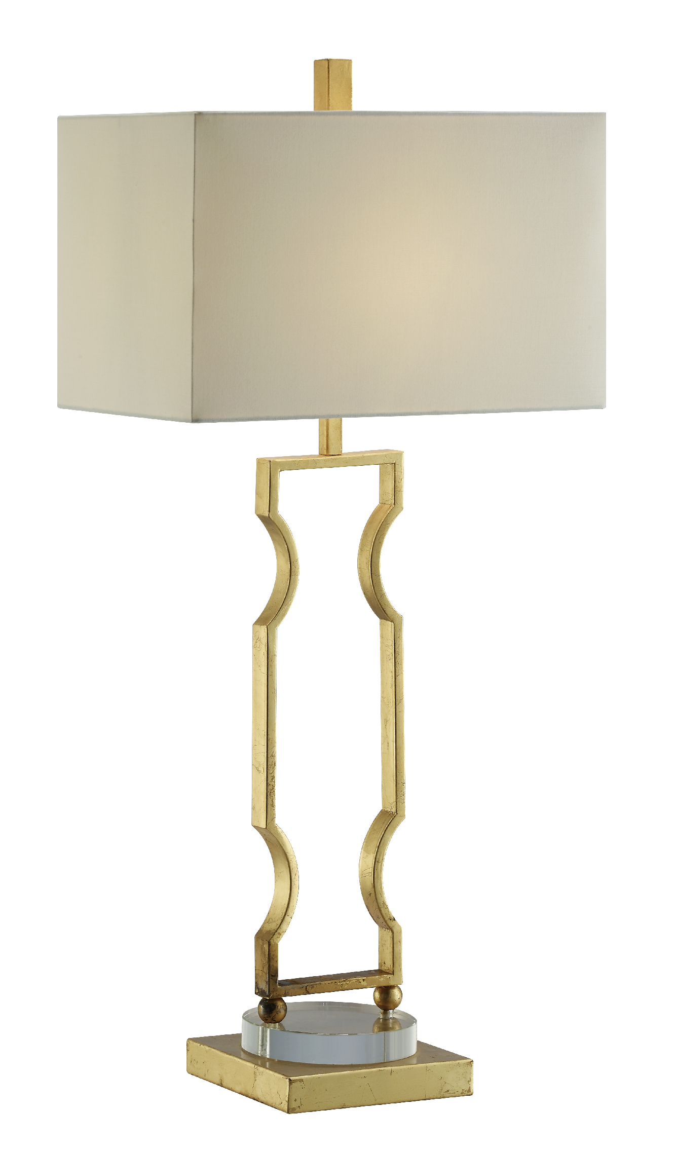 NEW Pair of gold Metal Acrylic Base Lamps