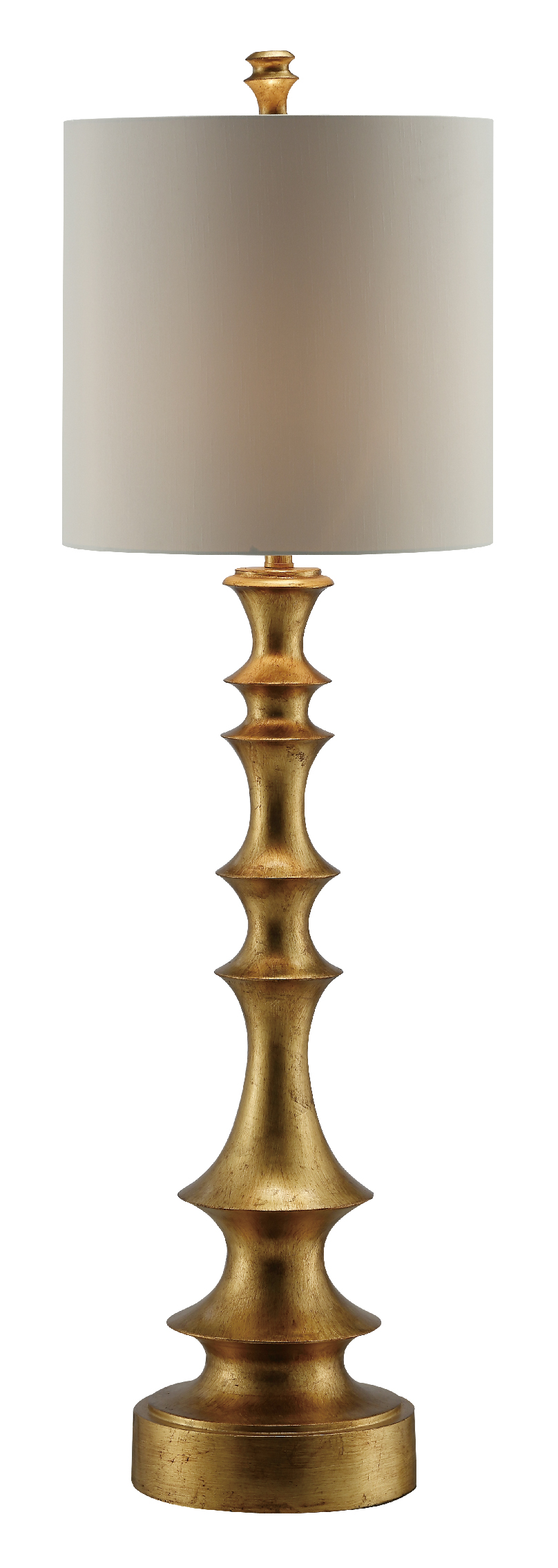NEW Pair of Tall Gold Spindle Lamps