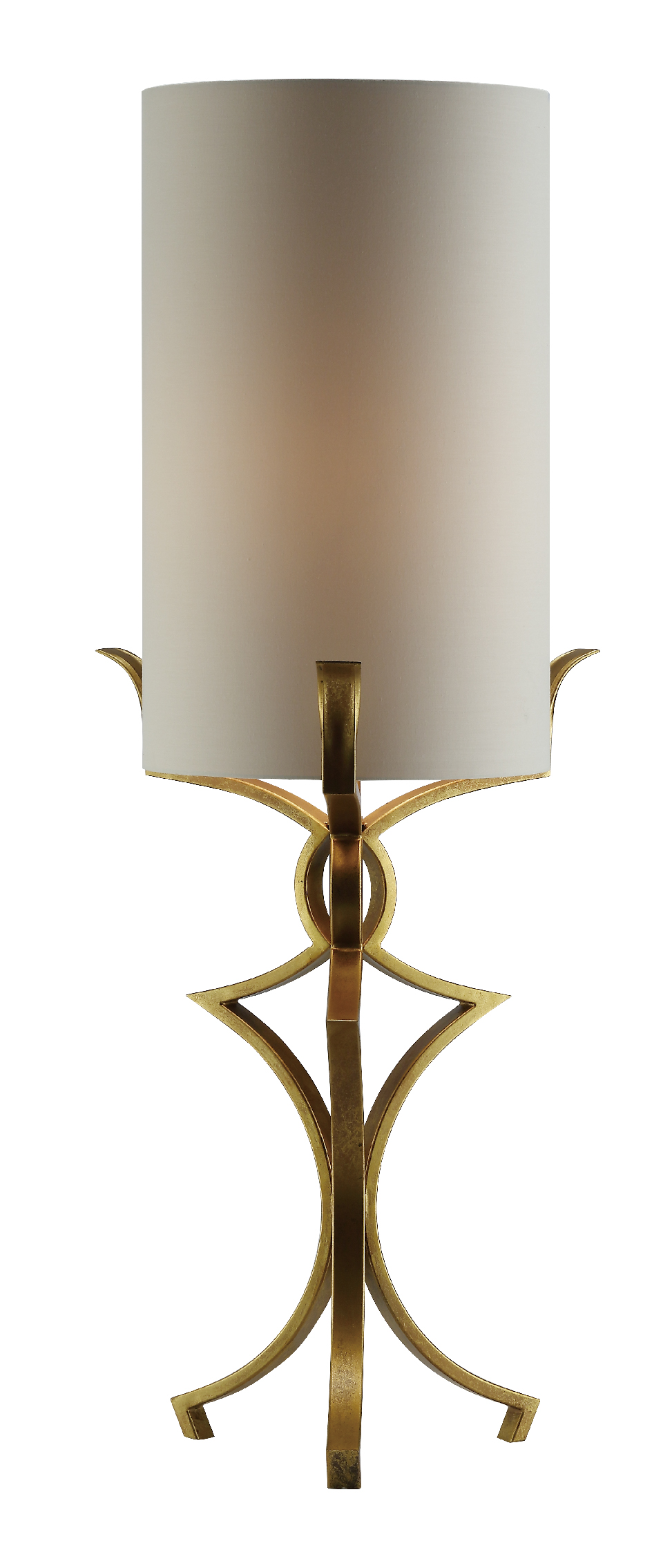 NEW Pair of Gold Tri Bracket Lamps