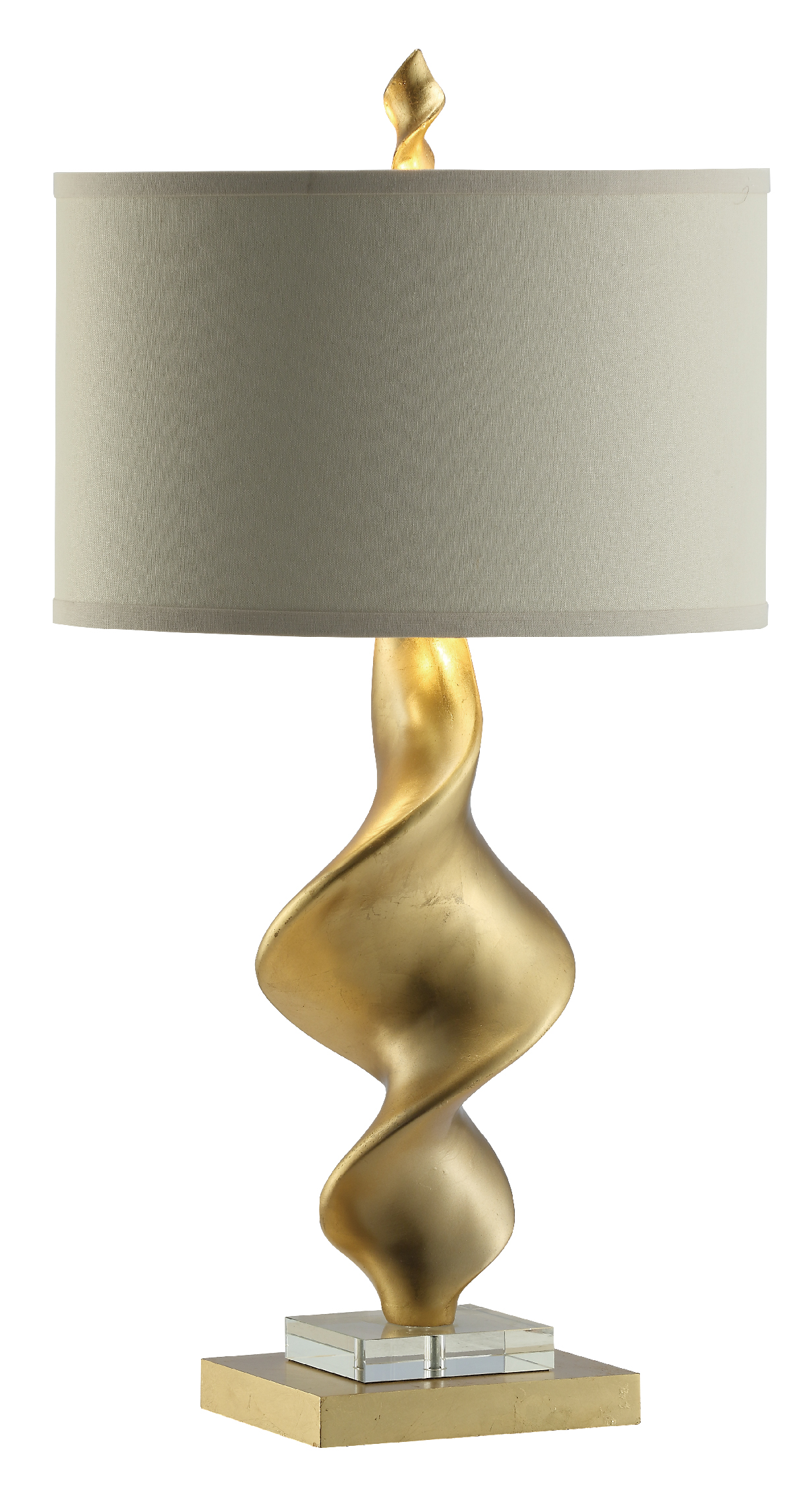 NEW Pair of Gold Twist Lamps