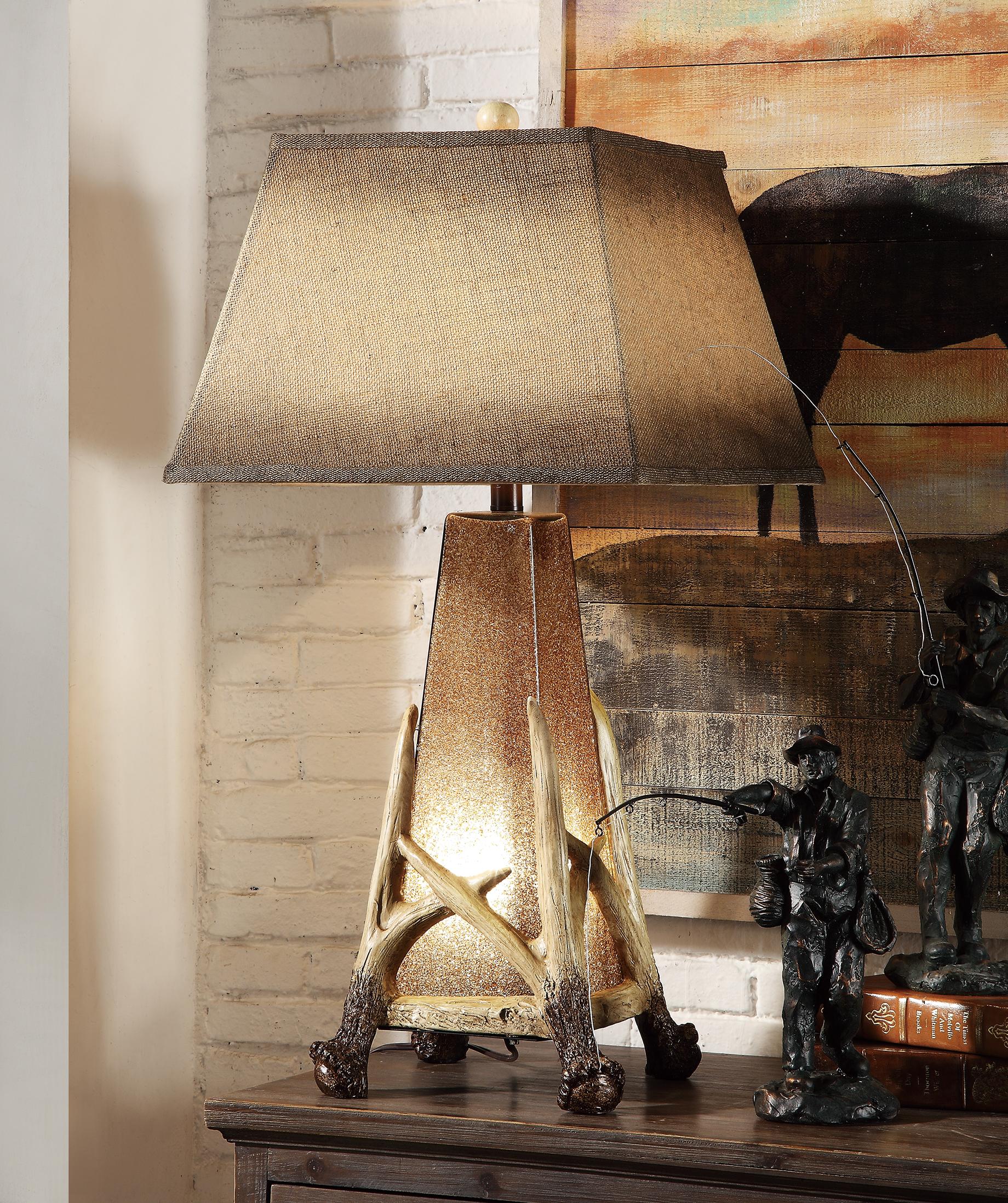 NEW Pair of Antler Nightlight Lamps