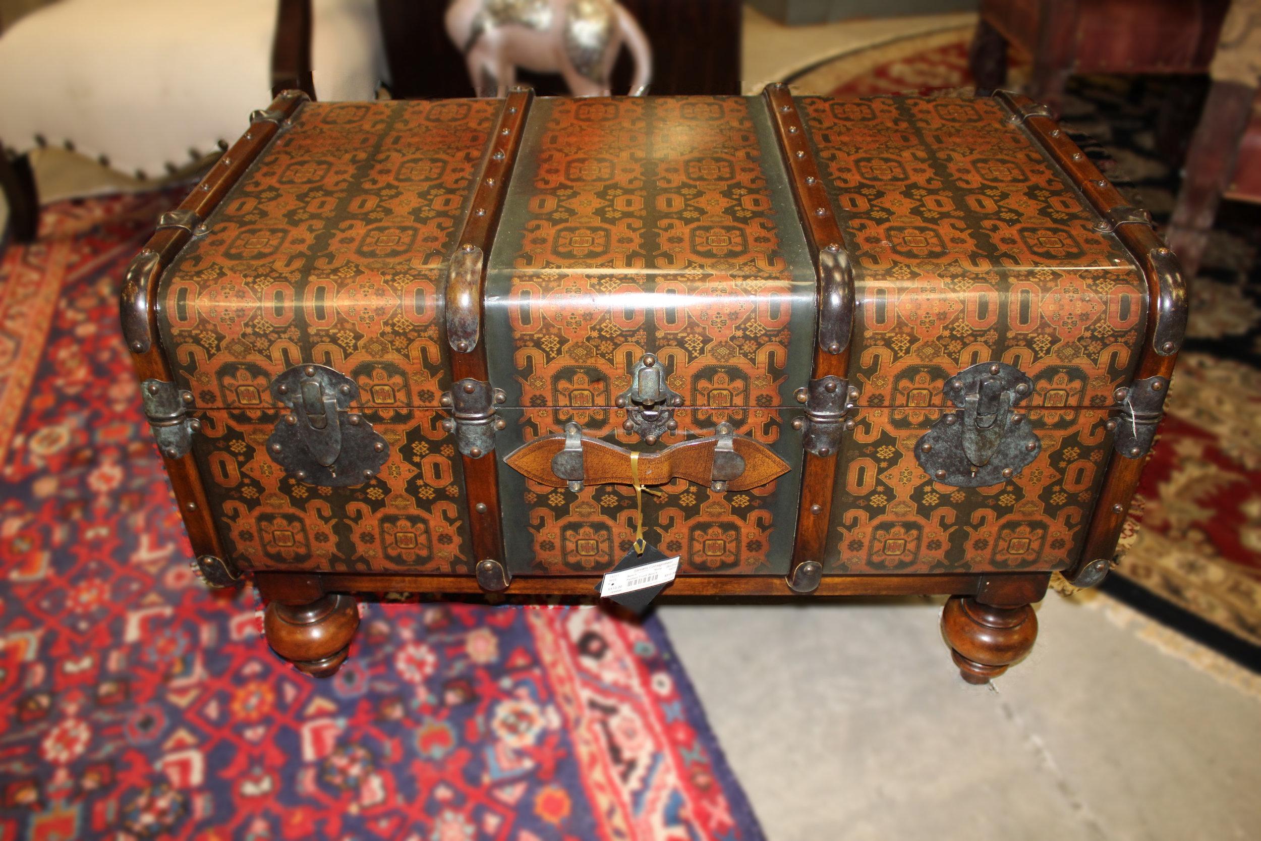 Painted Trunk Bench