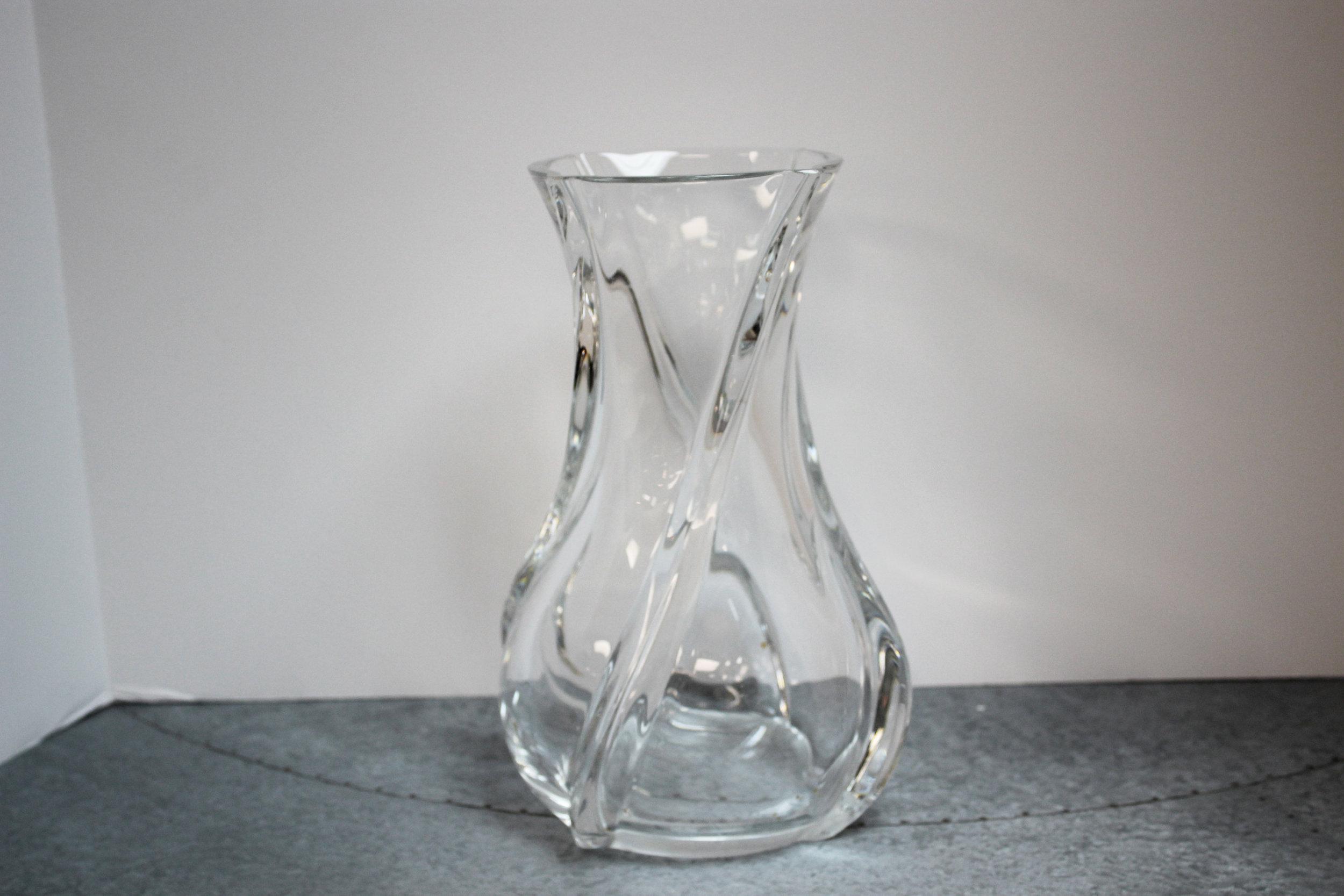 Serpentine Baccarat Vase