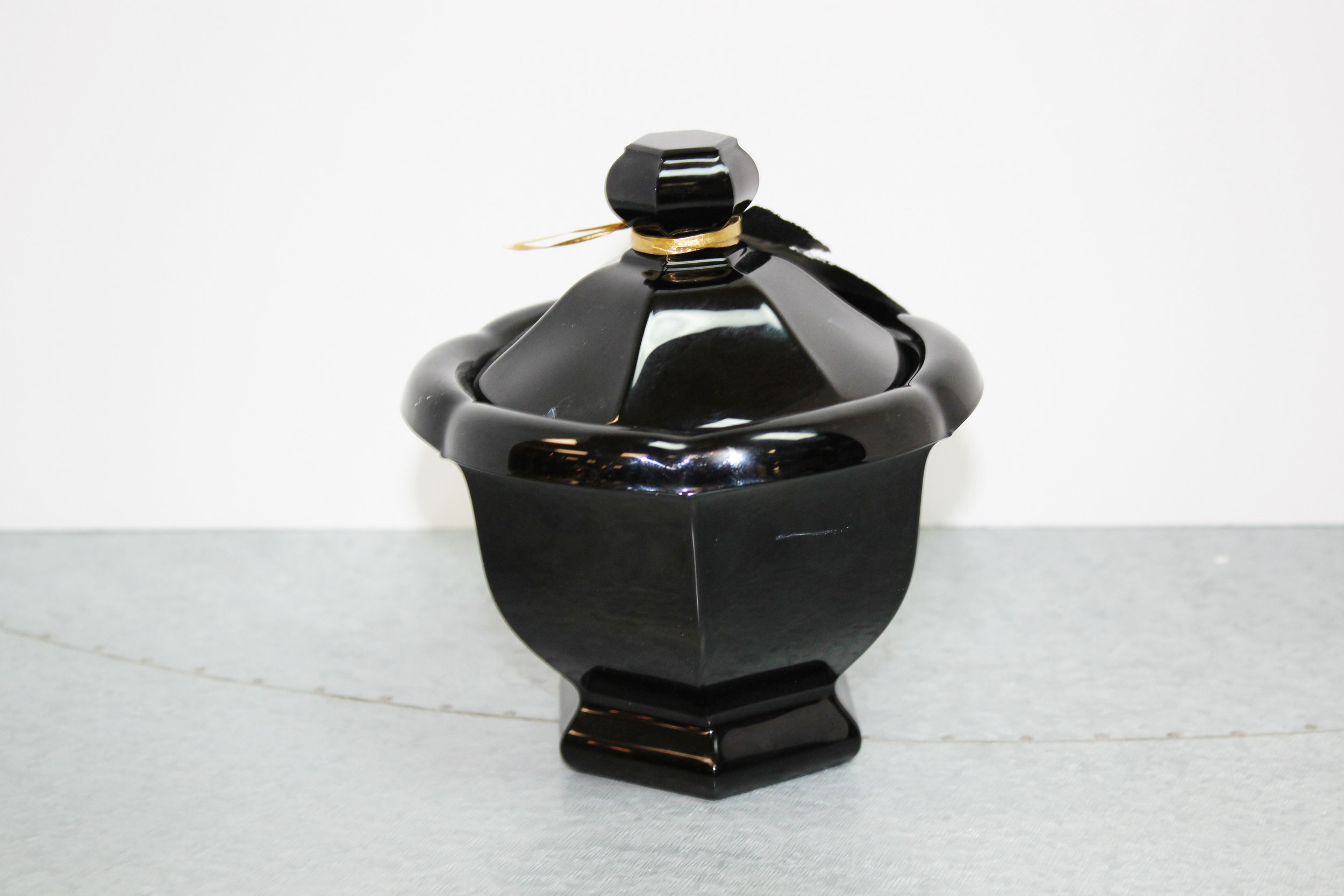 Baccarat Black Carved Candy Bowl