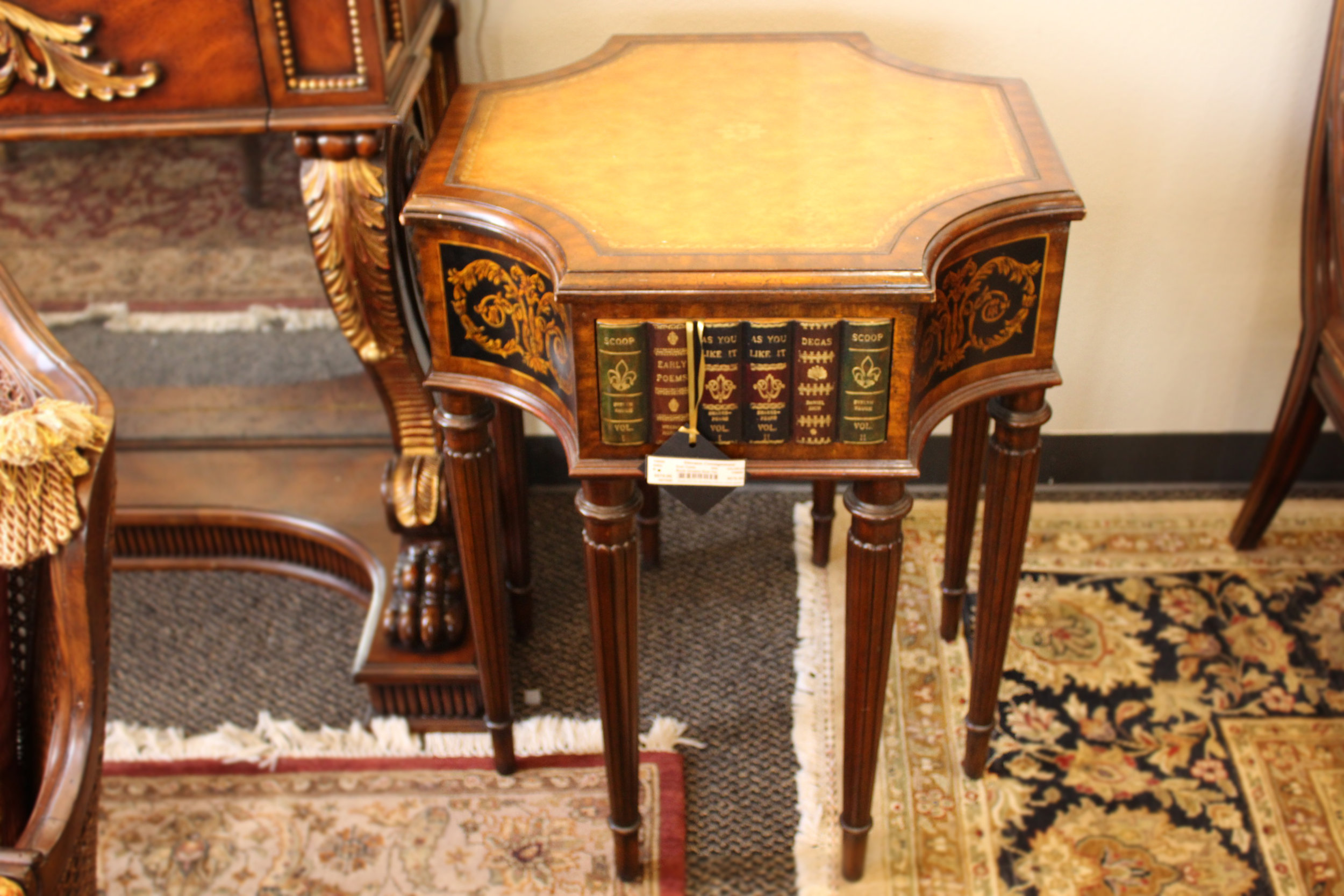 Maitland Smith Book Drawer End Table