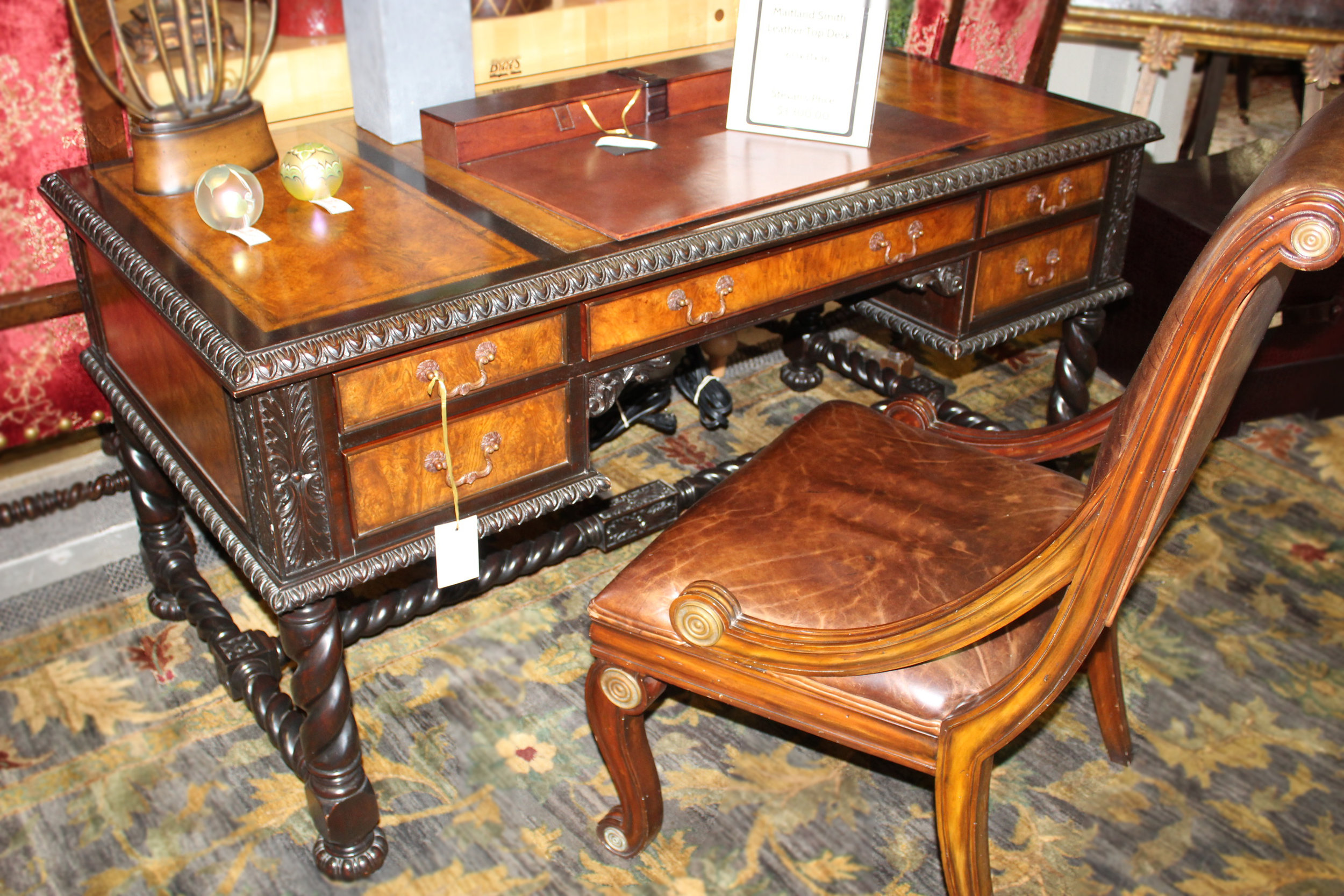 Maitland Smith Leather Top Desk