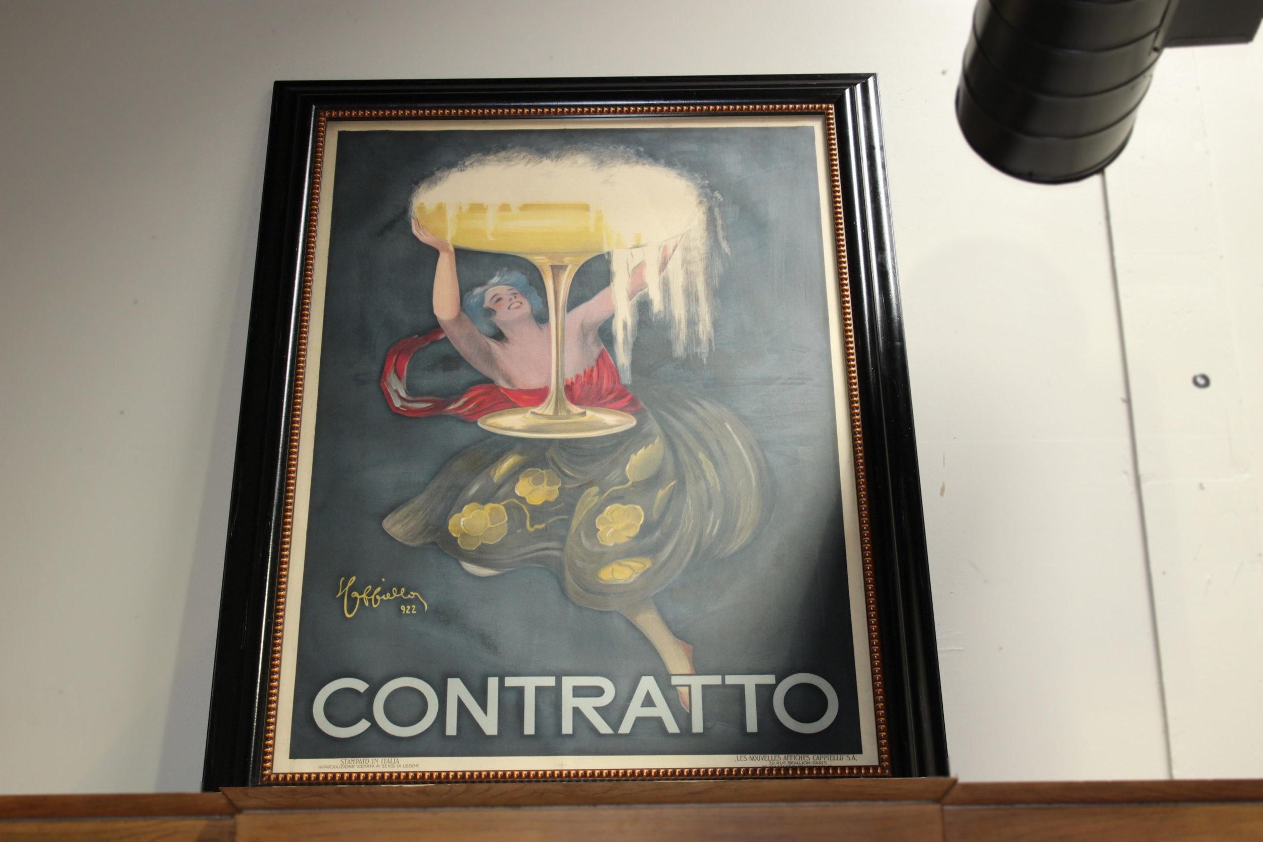 Contratto Champagne Poster