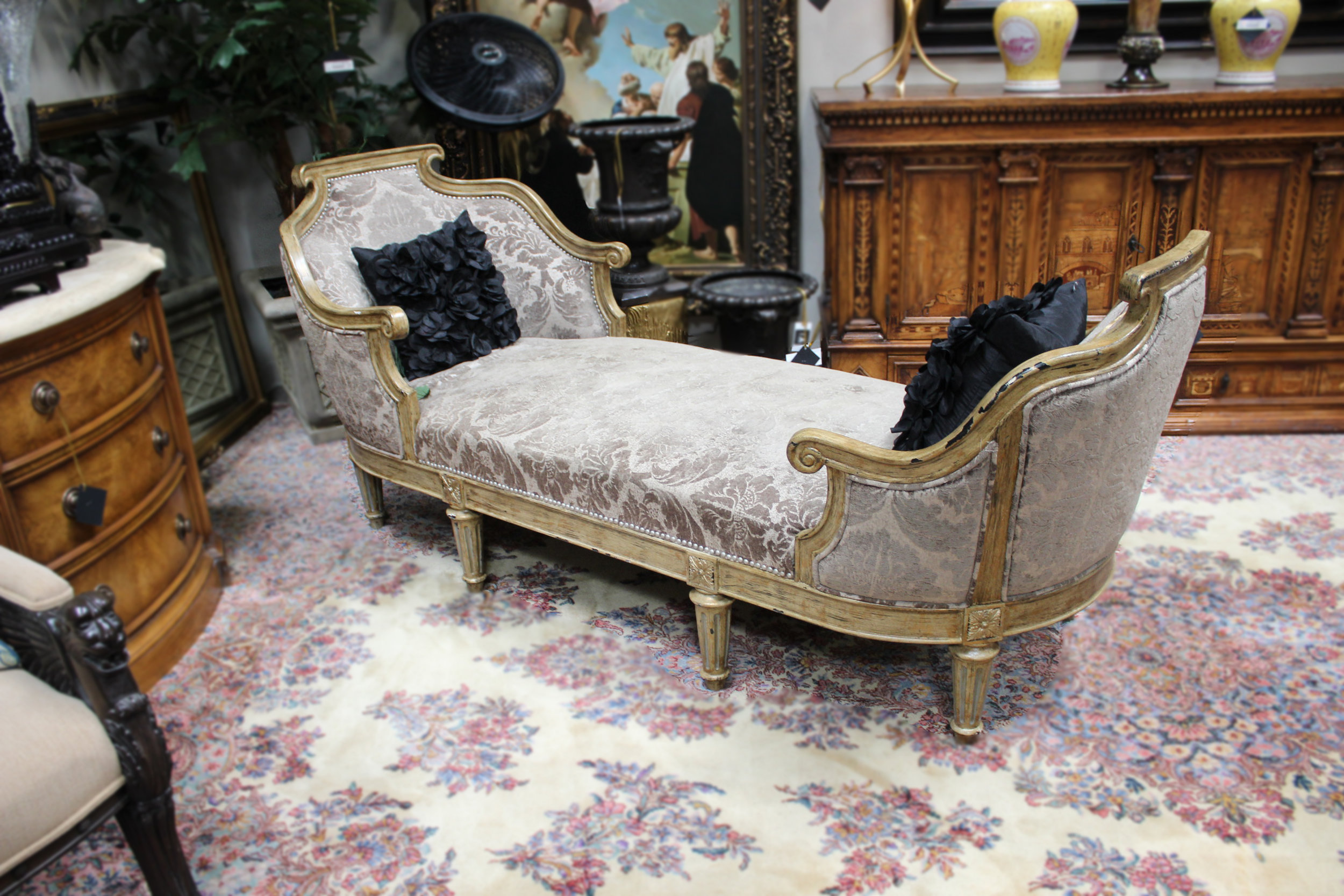 Grey Double Chaise Lounge