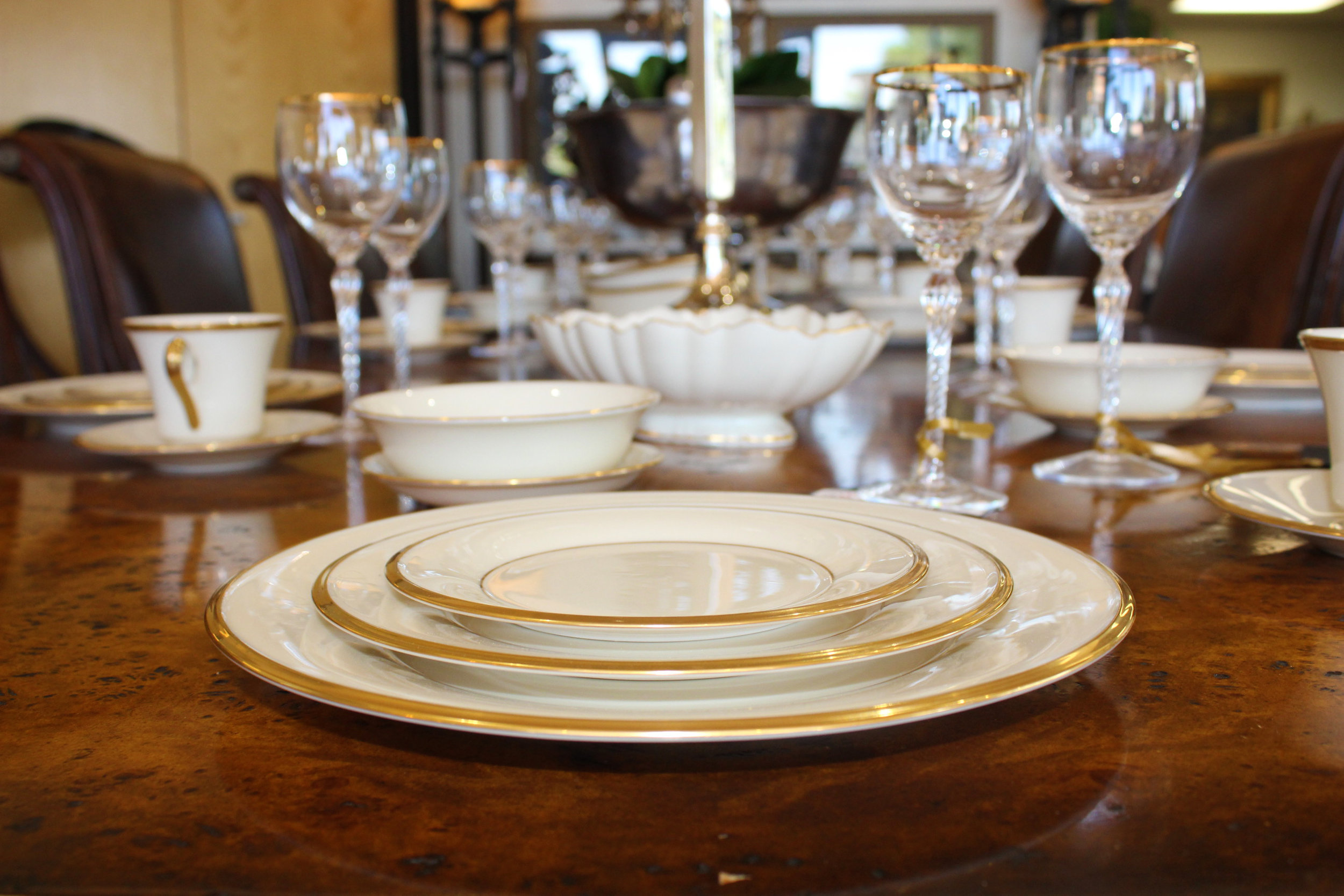 Lenox Eternal 11 - 6 Piece Place Settings Plus Serving Pieces and Additional Setting Pieces