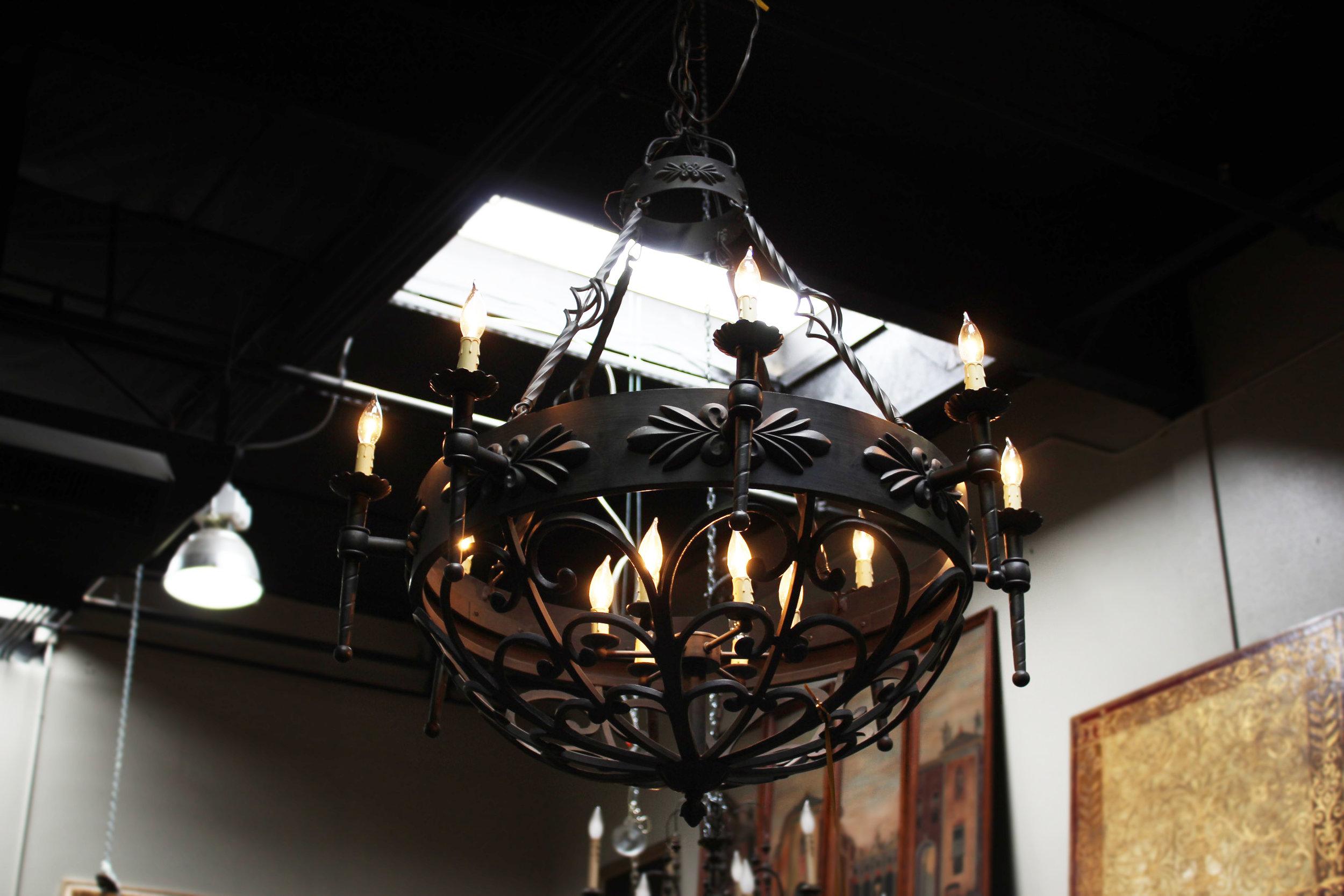14 Light Iron Bowl Chandelier