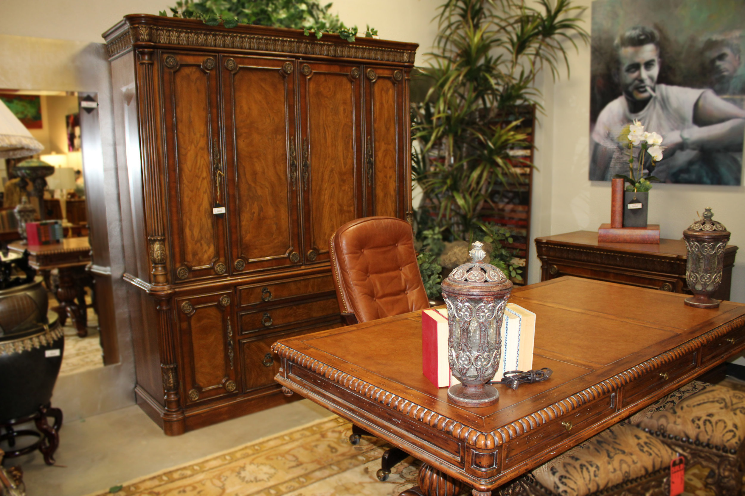 Office Suite Desk, Chair, Filing Cabinet, Wall Cabinet