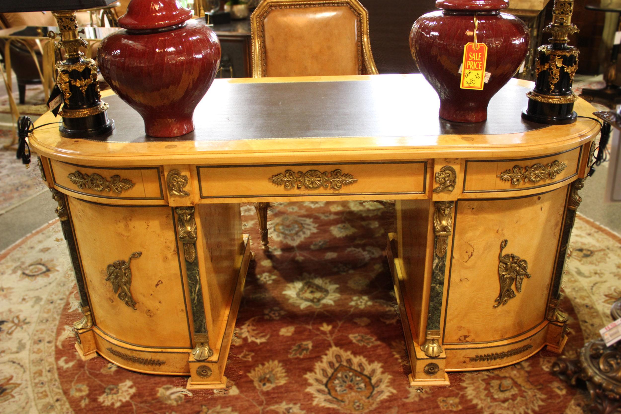 Oval Empire Desk