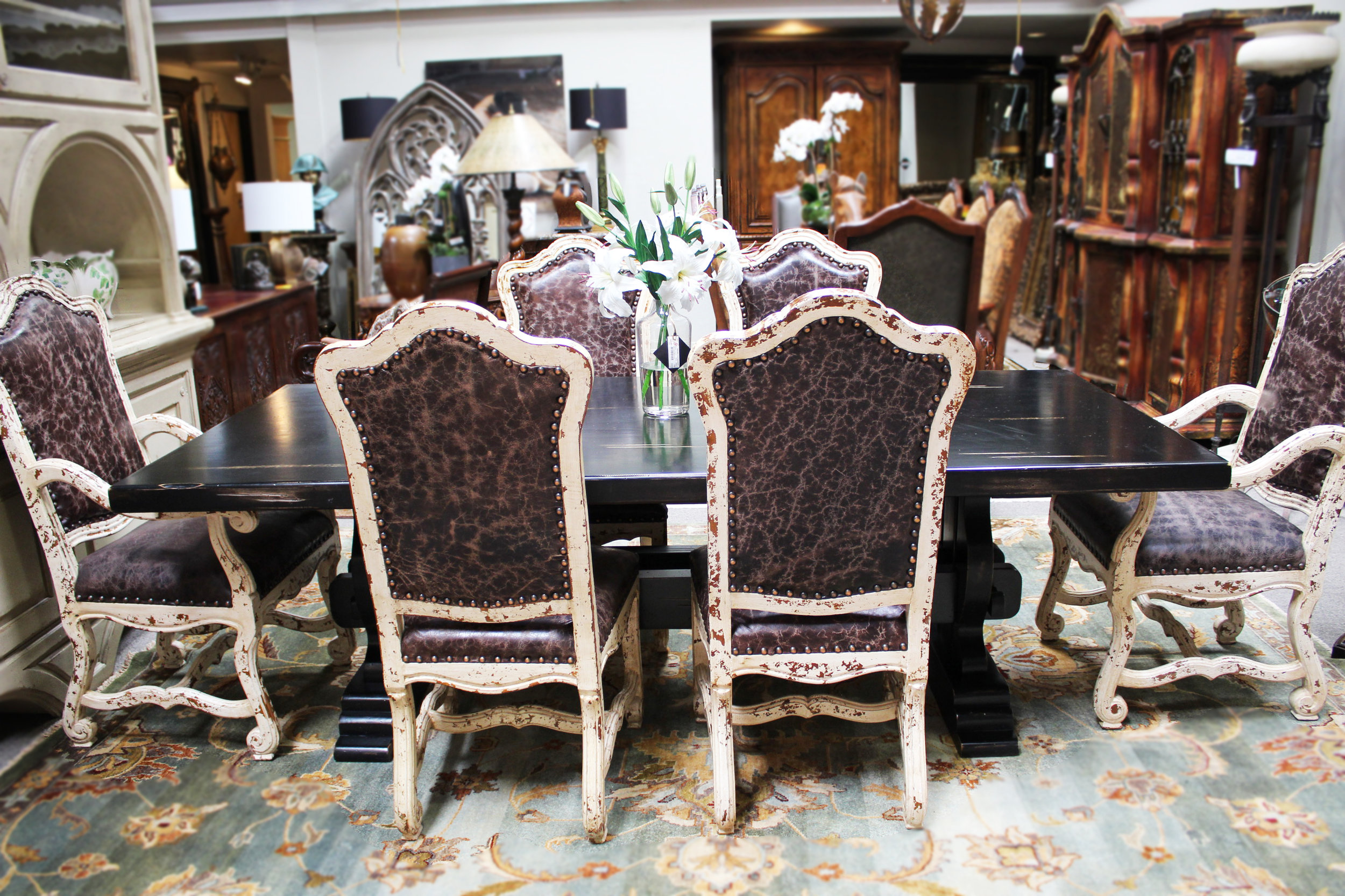 Black Rectangle Dining Table