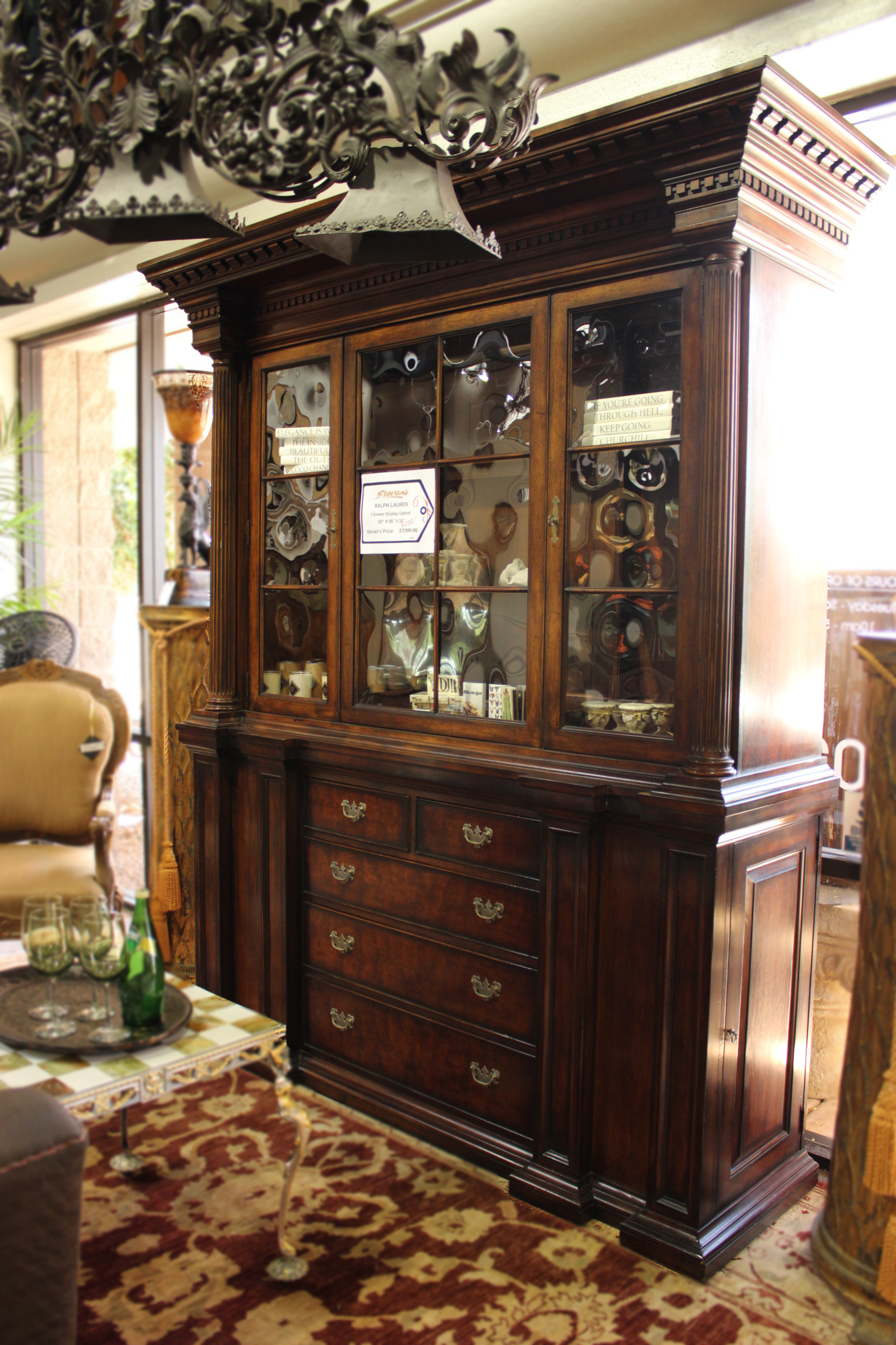 Ralph Lauren 3 Drawer Display Cabinet