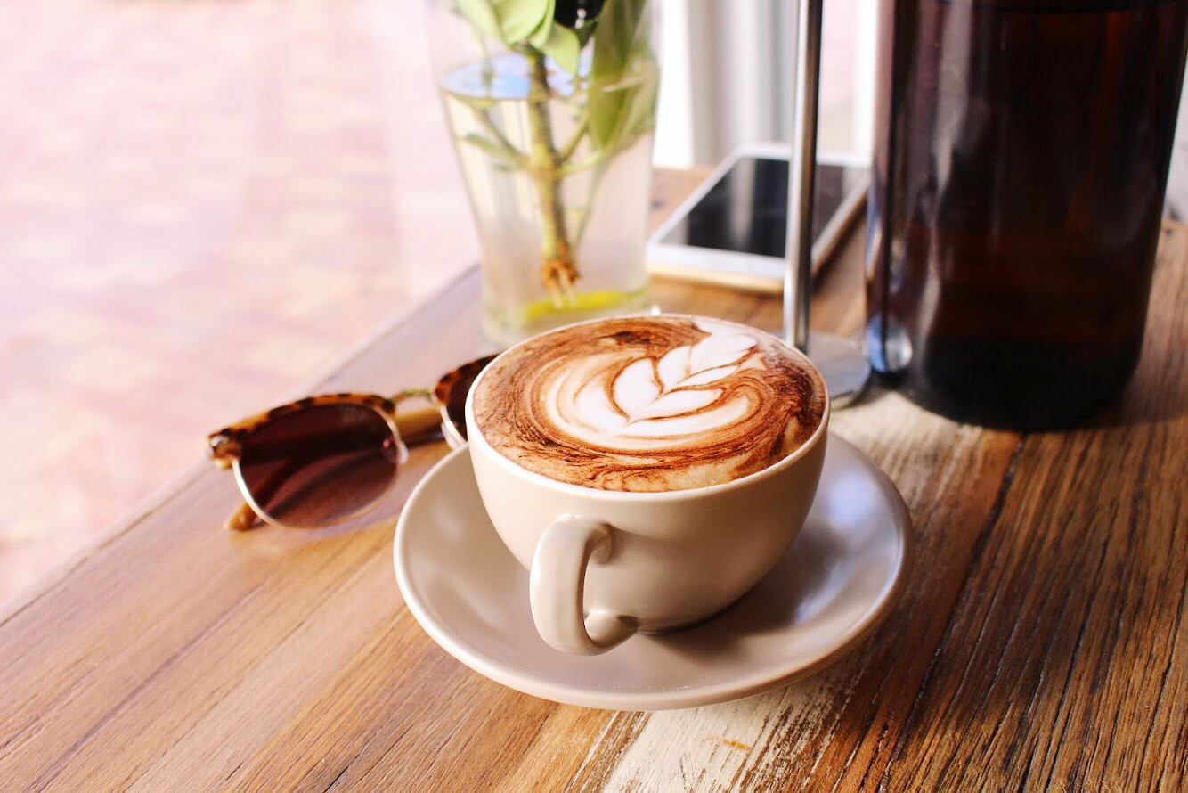 Our coffee is made using organic beans roasted locally on the Mornington Peninsula by our friends at Kelter Coffee -