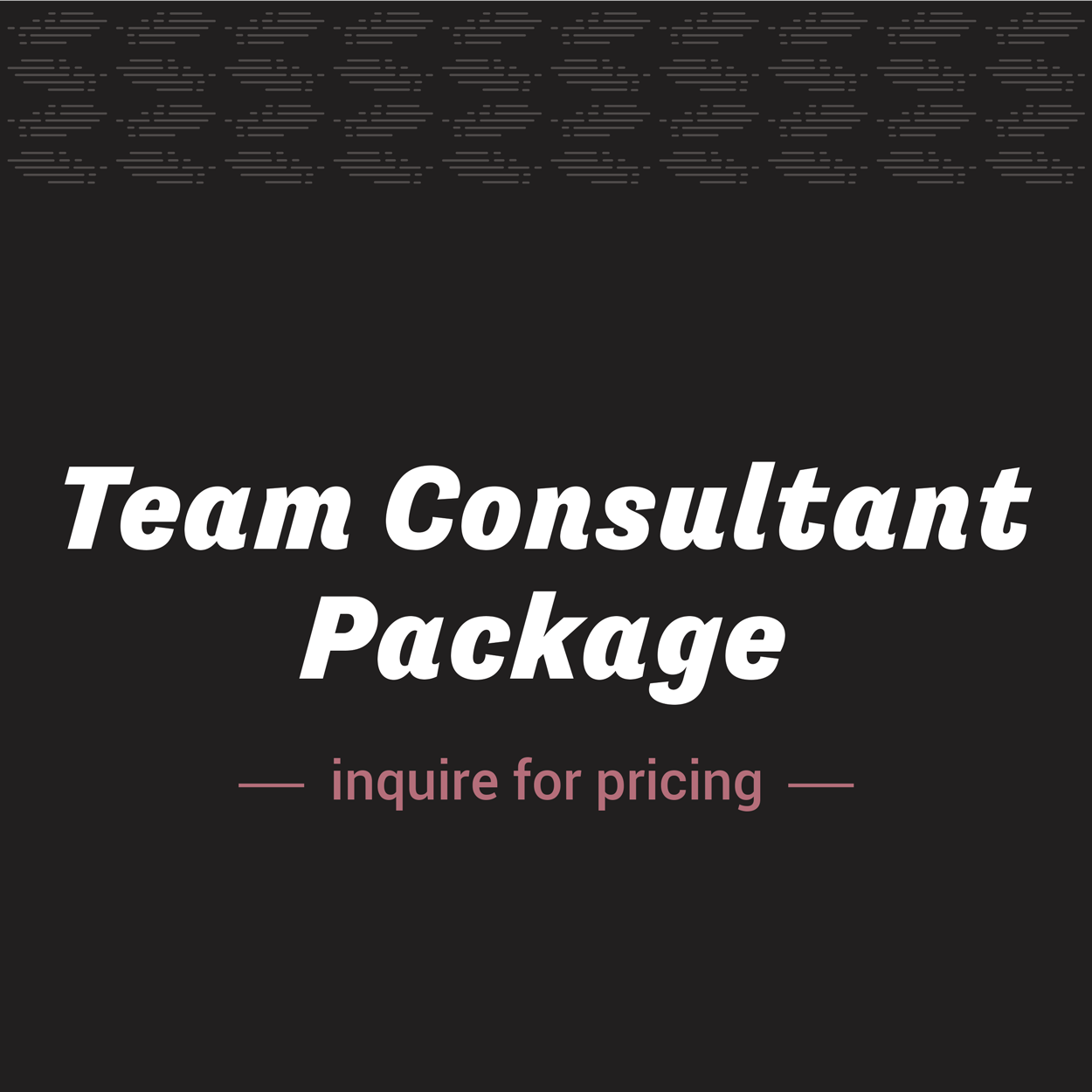 Team Consultant Package | Shakeout LLC