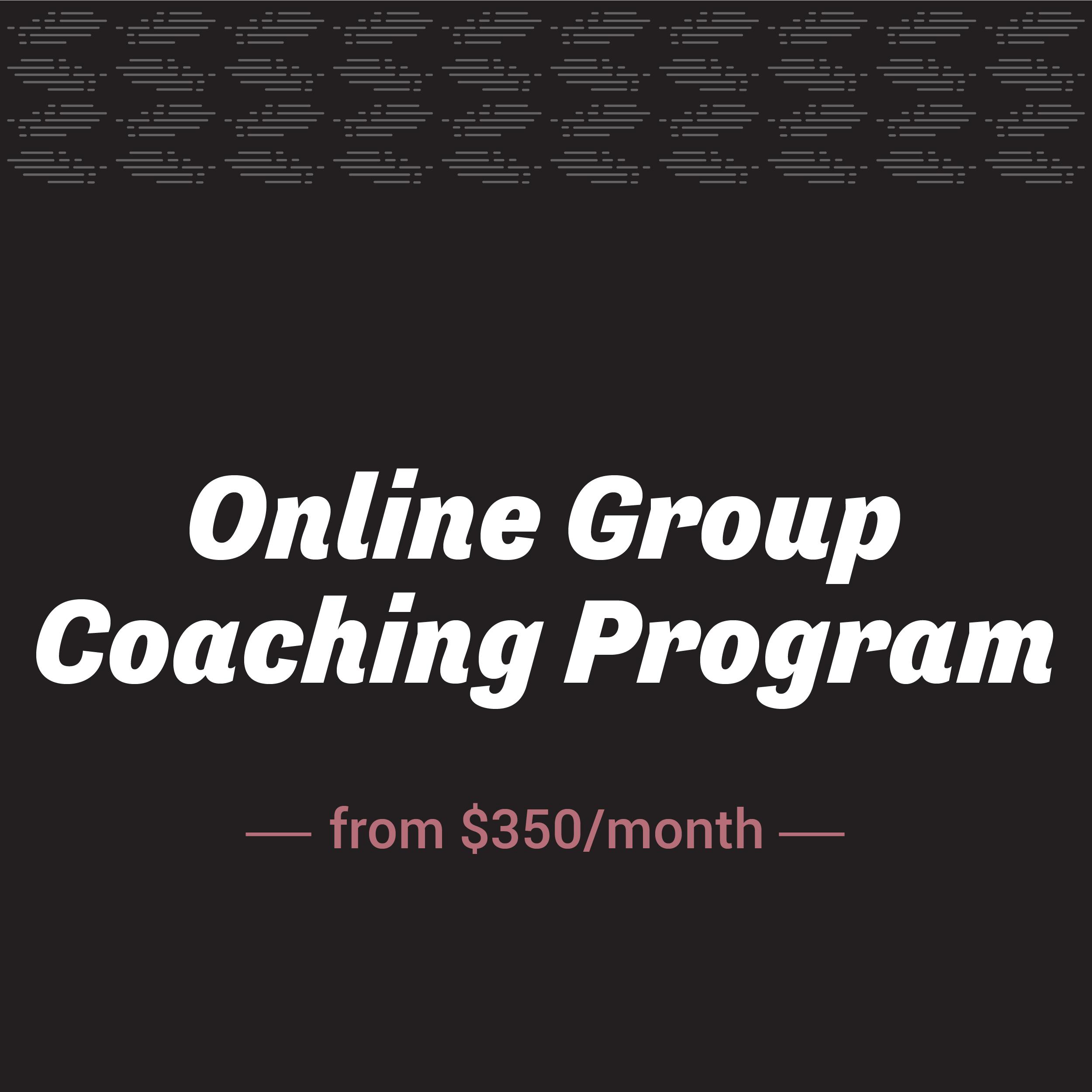 Online Group Coaching Program | Shakeout LLC