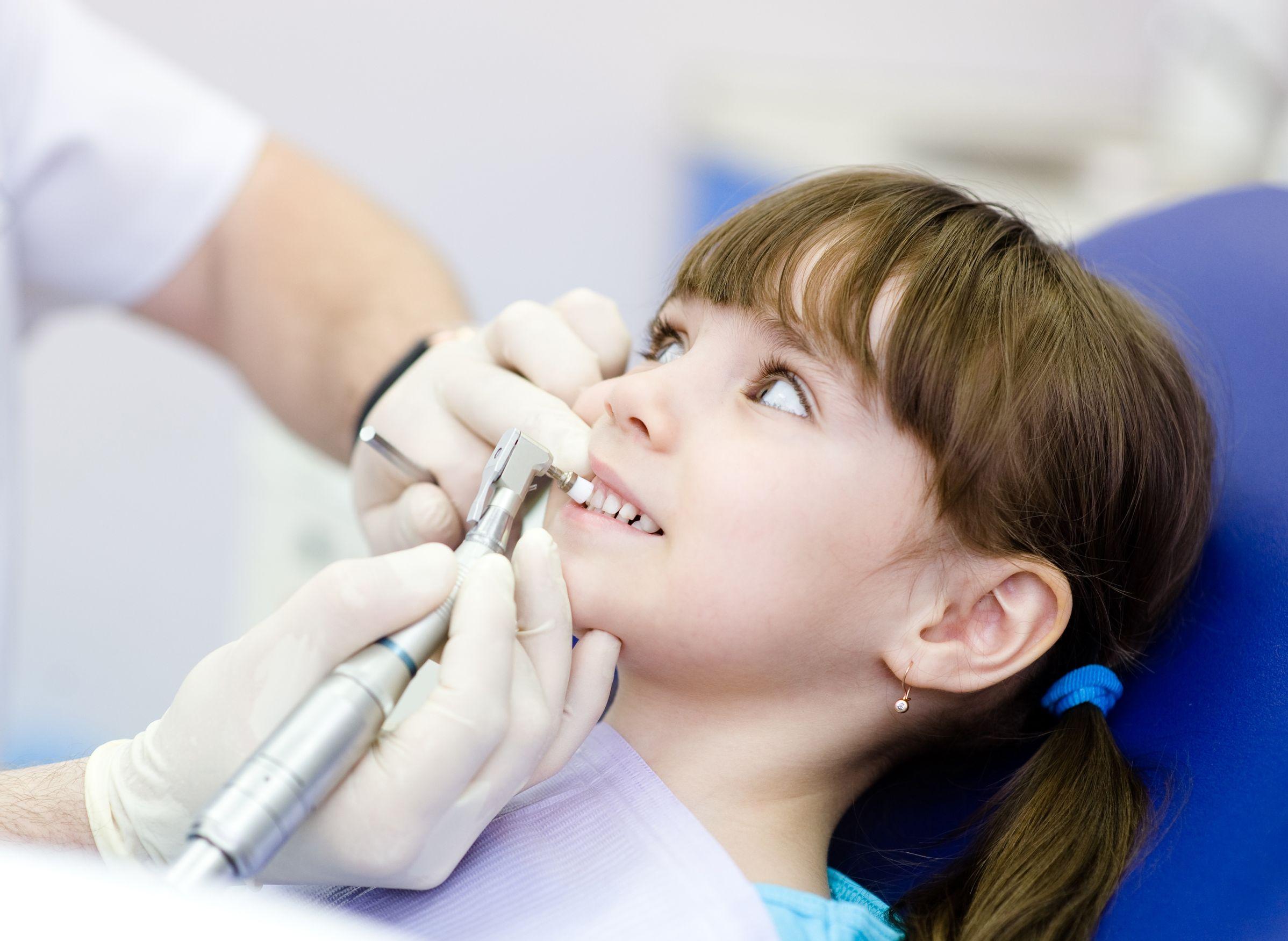 Child Teeth Cleaning Illustration