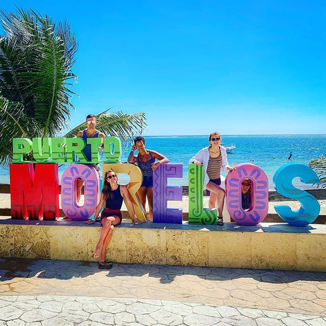 Spent an amazing week with these lovely humans; laughing under the sunshine, exploring the jungle, ruins, snorkeling in the coral reef, biking around town, speaking spanish, singing, dancing, petting stray dogs—heart happy💛💛 . . . . #mexico #tulum #bffs #friends