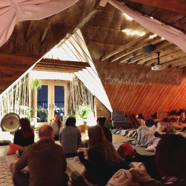 Literally the coolest, high vibe, most relaxing space I've ever taught in. 35 souls in Breathwork process—I'm still processing it myself.  Giggles, screams, smiles, tears, release.  Celestial instruments to carry people away visually, to heal on a cellular level, to connect to the divine intelligence is why I LOVE sound baths in compliment to Breathwork. It's amazing how the healer within takes divine action in people simply when you hold a safe, sacred space. I am not the healer. You are. 💛 . . . . . #breathwork #sacredbreath #soundbath #soundhealings #yogainspiration #bestjobever