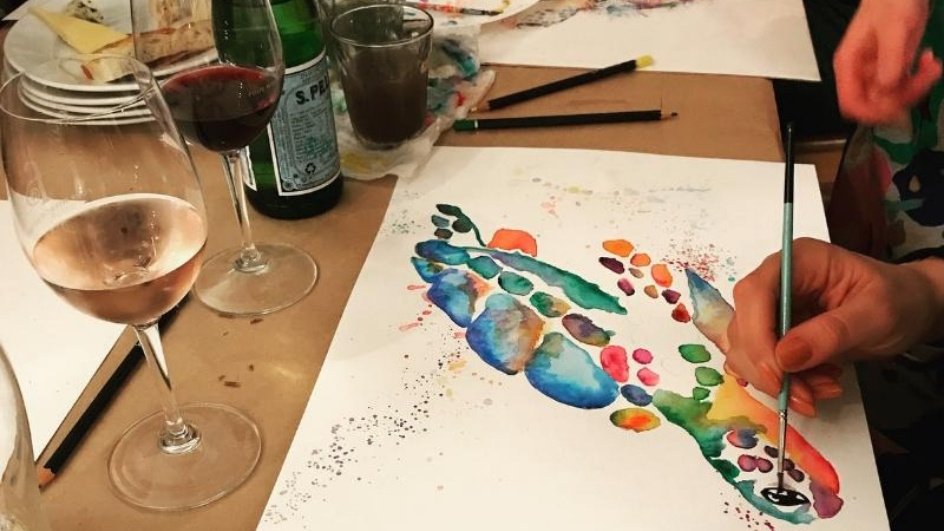 Watercolour and wine - Hosted by Work-Shop