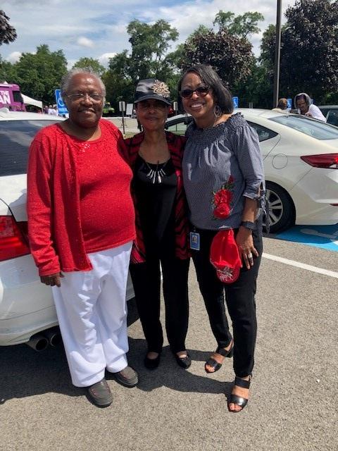Healthy Church Challenge - Pastor Lisa Brock, with our UPMC's healthy church challenge participants; Mother Geraldine and Mother Dee!