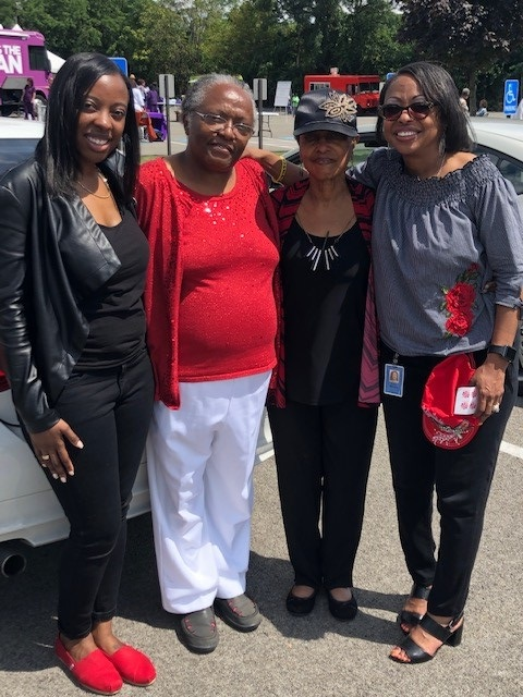 (From left to right): Minister Moriah, Mother Dee, Mother Geraldine and Pastor Lisa Brock