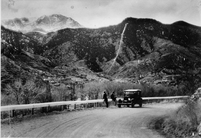 The Manitou Springs Incline, circa 1920